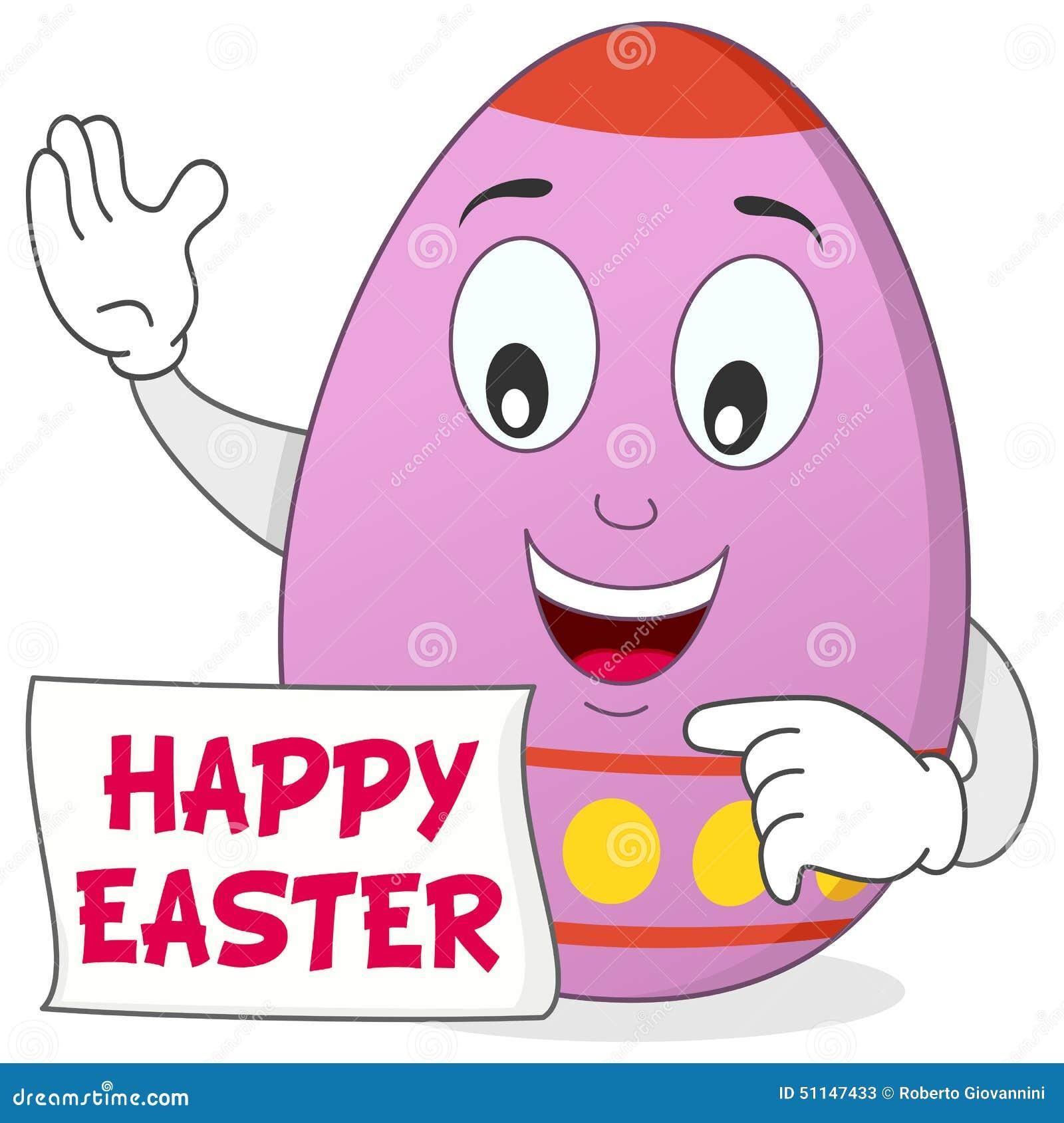 Personaggio dei cartoni animati felice dell uovo di pasqua