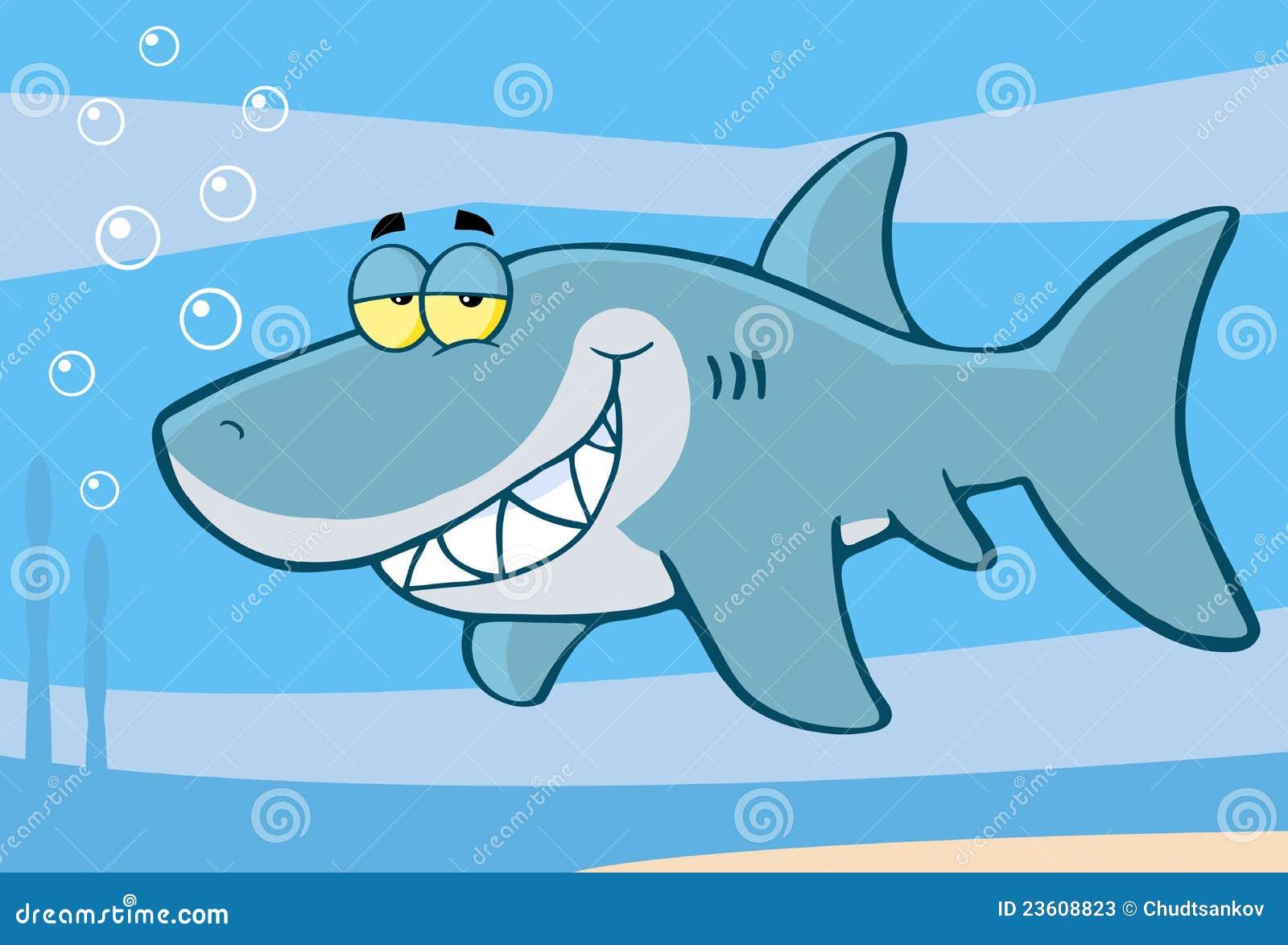 Personaggio dei cartoni animati felice dello squalo - Cartoni animati mare immagini ...