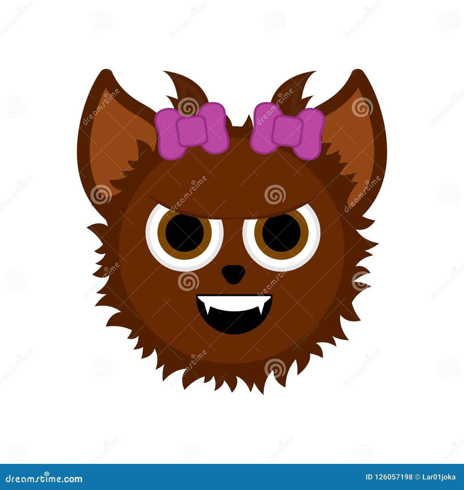 Personaggio dei cartoni animati sveglio del lupo mannaro di