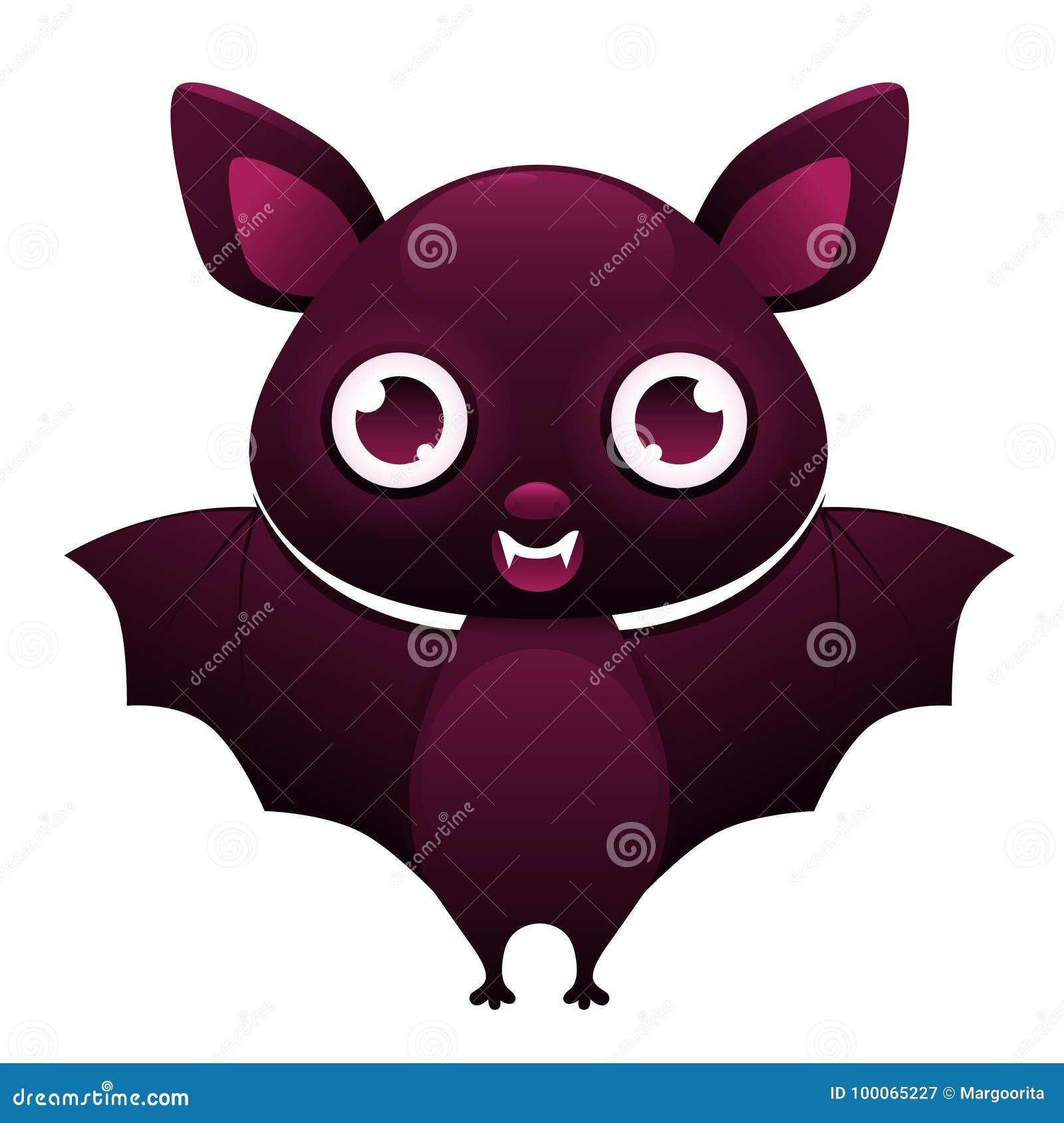 Personaggio dei cartoni animati sveglio del pipistrello di vampiro