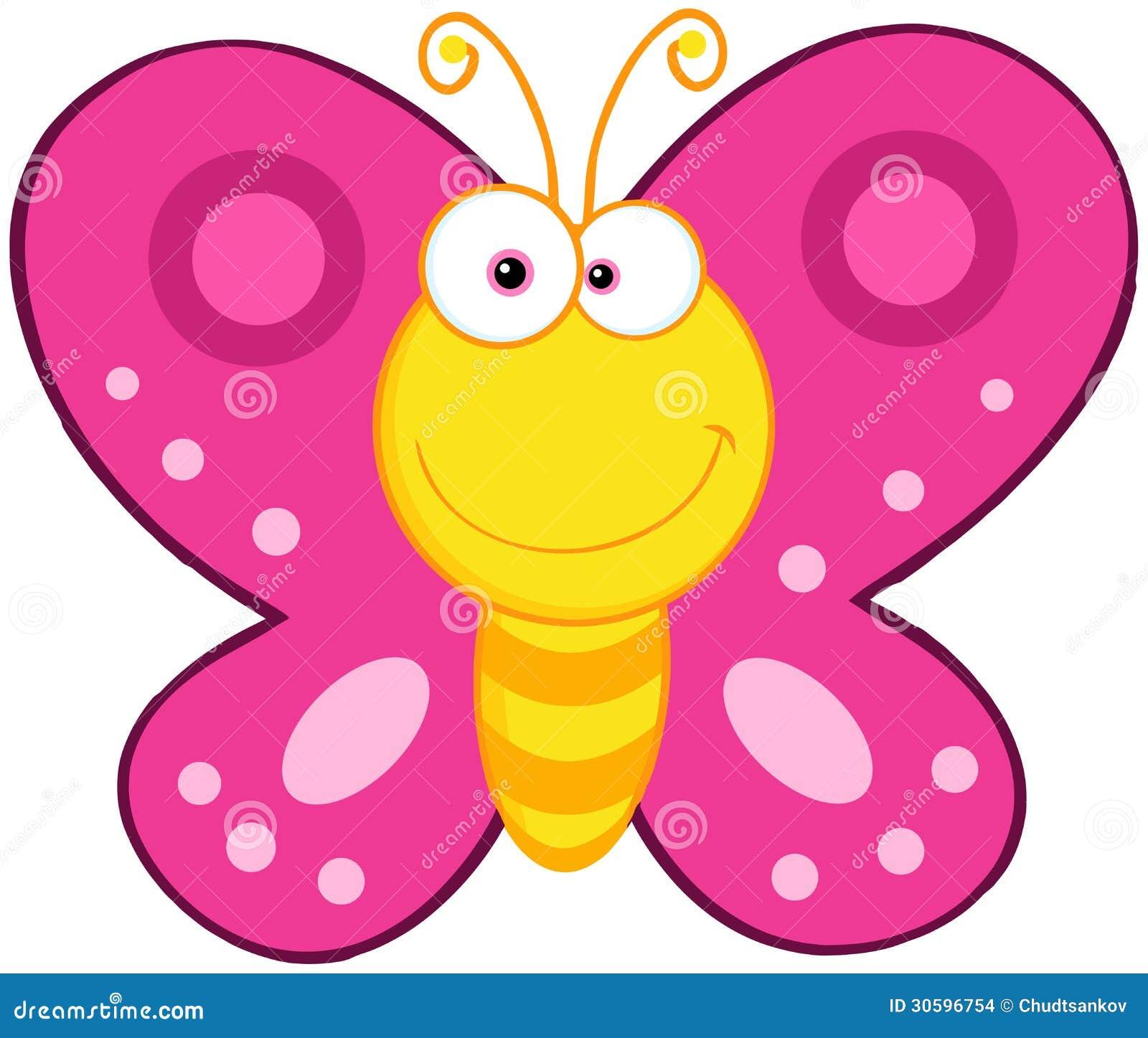 Personaggio dei cartoni animati sveglio della farfalla