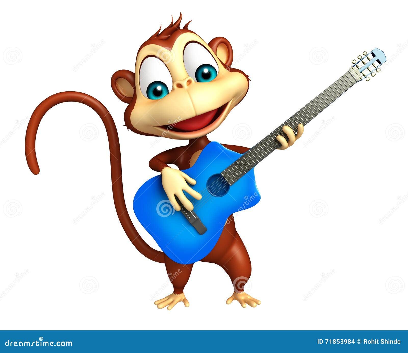 Personaggio dei cartoni animati sveglio della scimmia con
