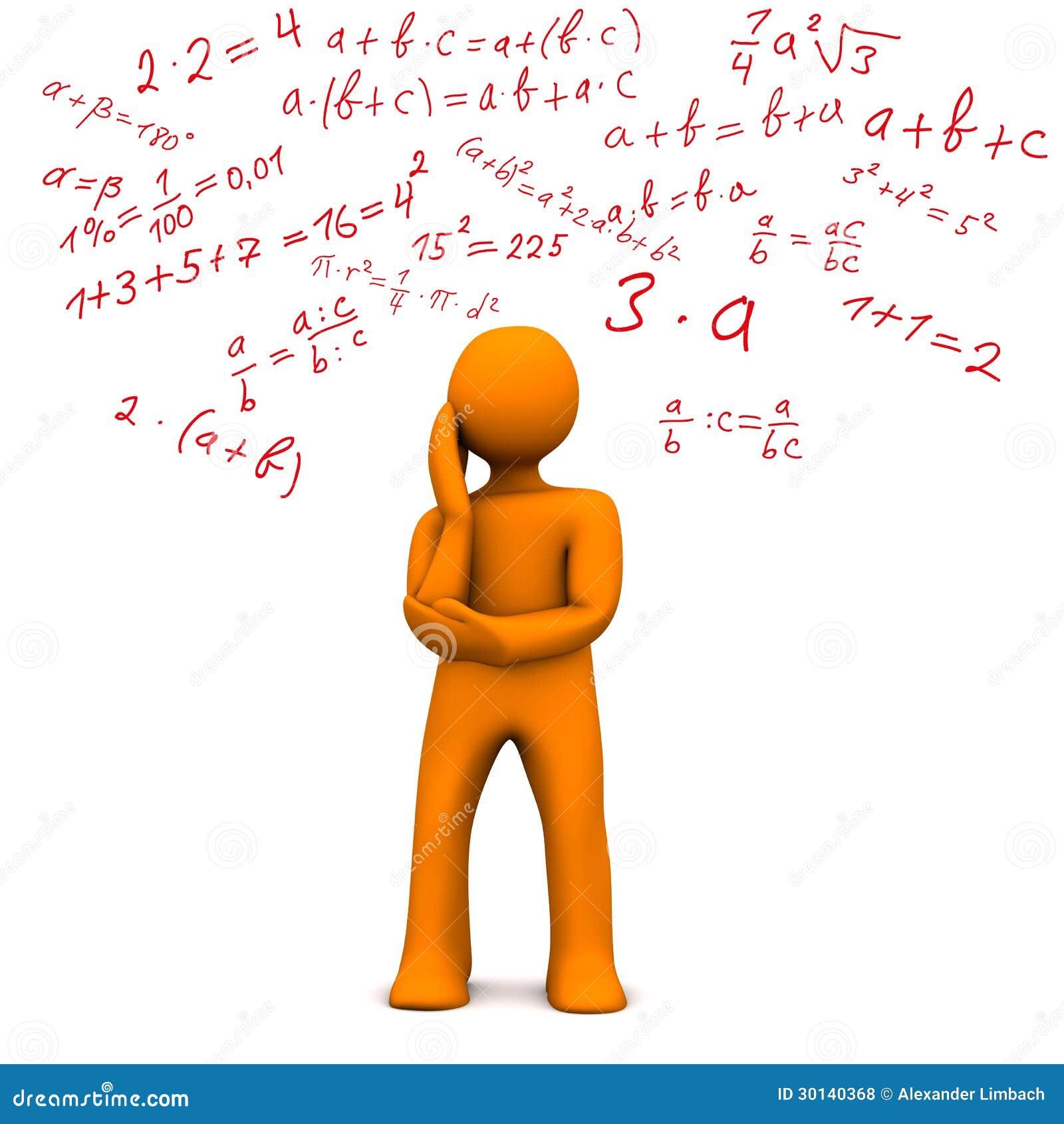 Fotos De Archivo Libres De Regal%C3%ADas Personaje De Dibujos Animados Anaranjado Con Matem%C3%A1ticas Formalmente Fondo Blanco Image30140368 on Math Pages