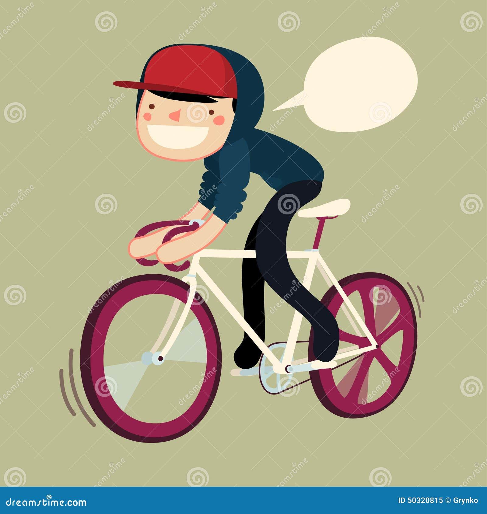 Personaje De Dibujos Animados De La Bici Del Montar A