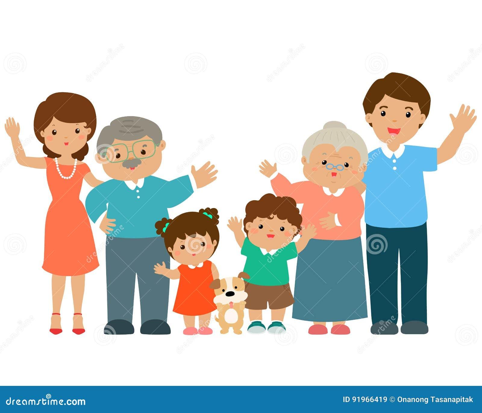 Personaje De Dibujos Animados De La Familia Ilustración Del