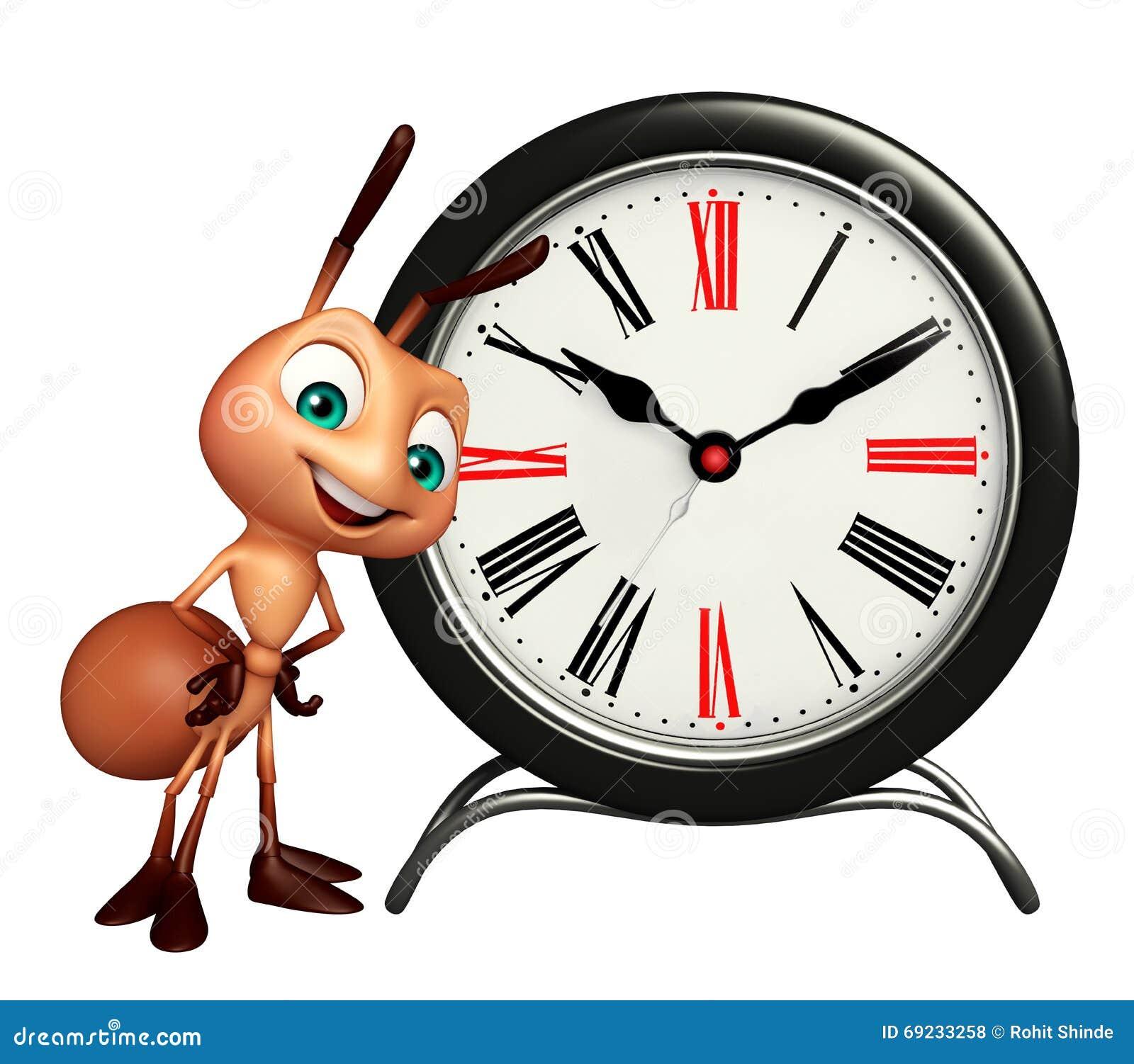 Personaje de dibujos animados de la hormiga con el reloj for Imagenes de relojes