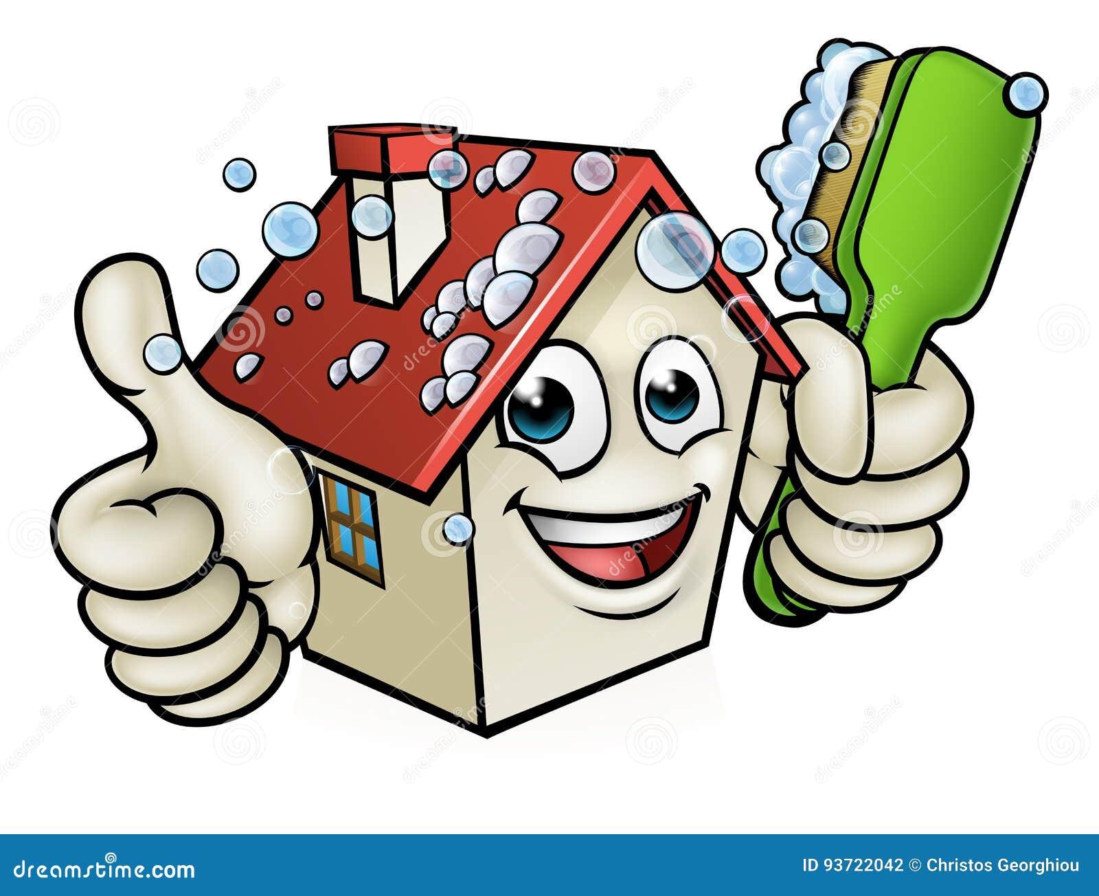 Personaje de dibujos animados de la limpieza de la casa - Imagenes de limpieza de casas ...
