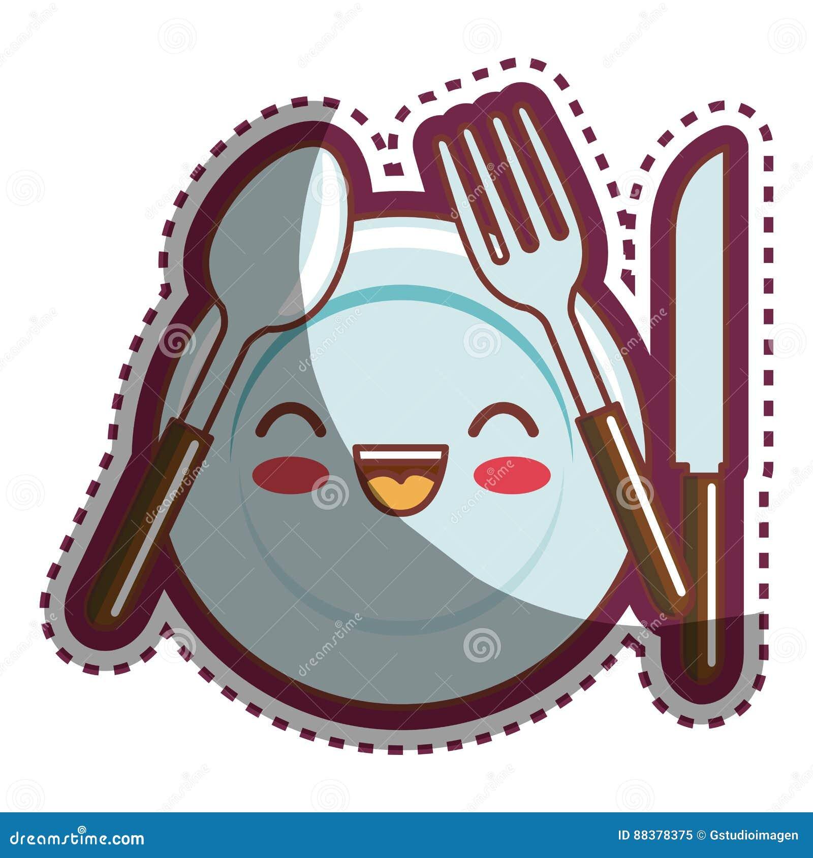 Personaje de dibujos animados de los utensilios de la for Utensilios de cocina nombres e imagenes