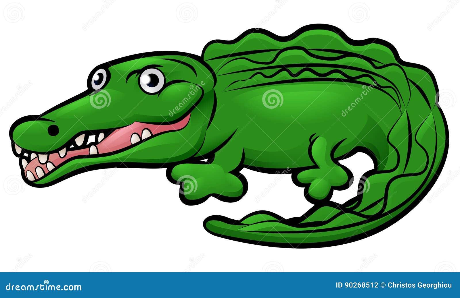 Personaje De Dibujos Animados Del Animal Del Cocodrilo Del