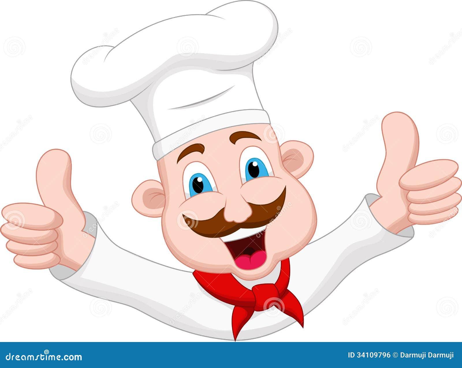 Personaje de dibujos animados del cocinero stock
