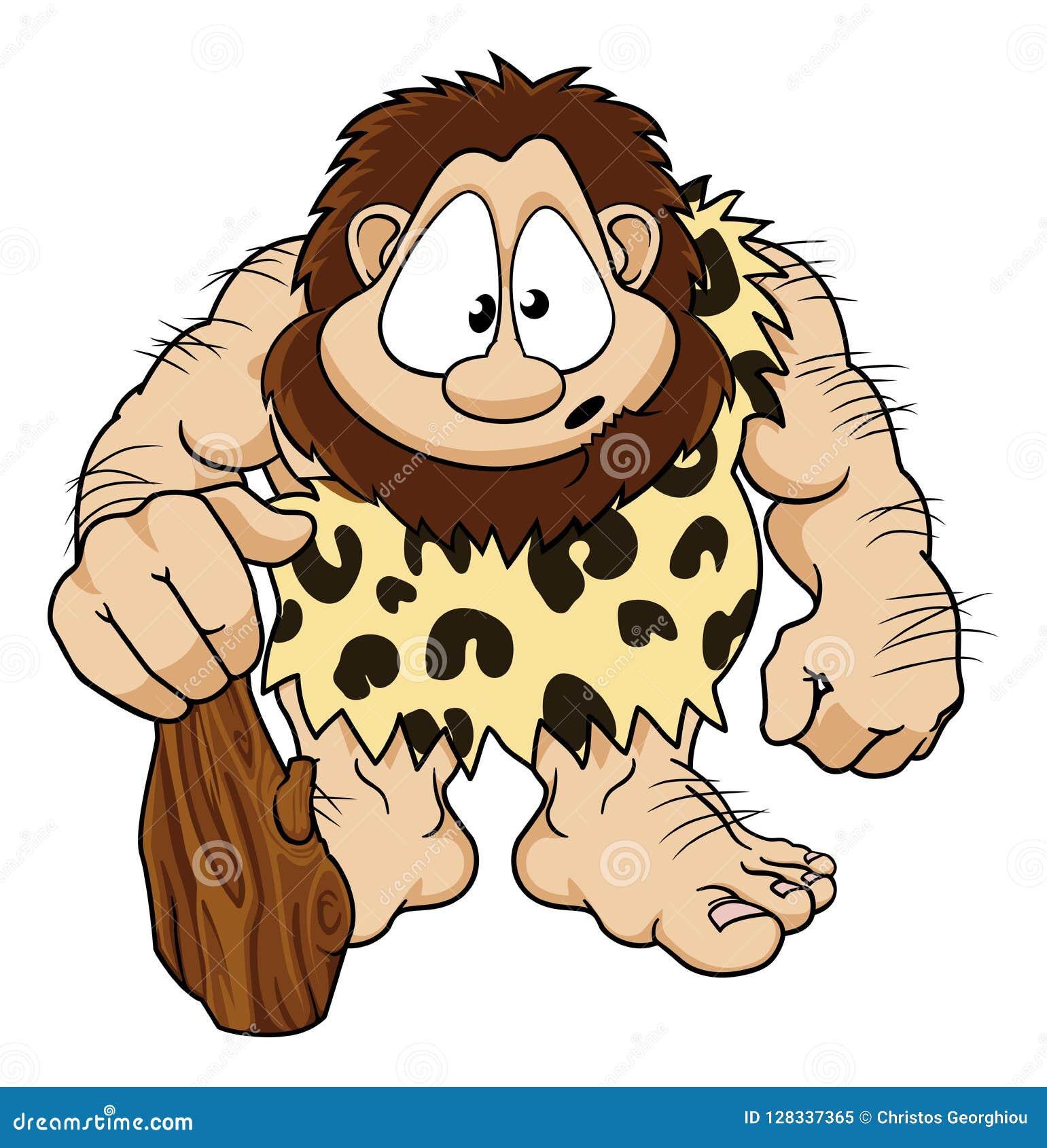 Personaje De Dibujos Animados Del Hombre De Las Cavernas