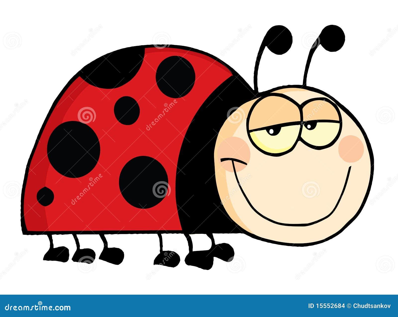 San Antonio En Dibujos Animados: Personaje De Dibujos Animados Del Ladybug Ilustración Del