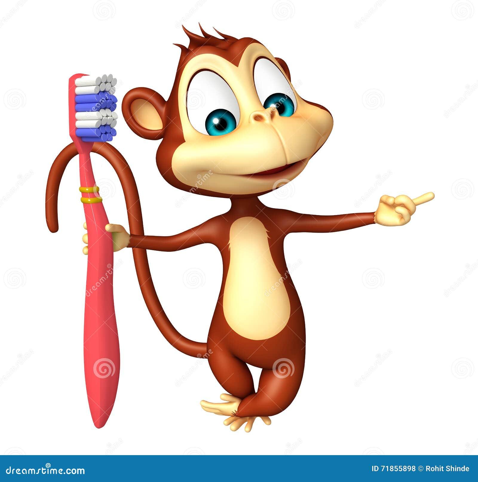Personaje de dibujos animados del mono la diversión con