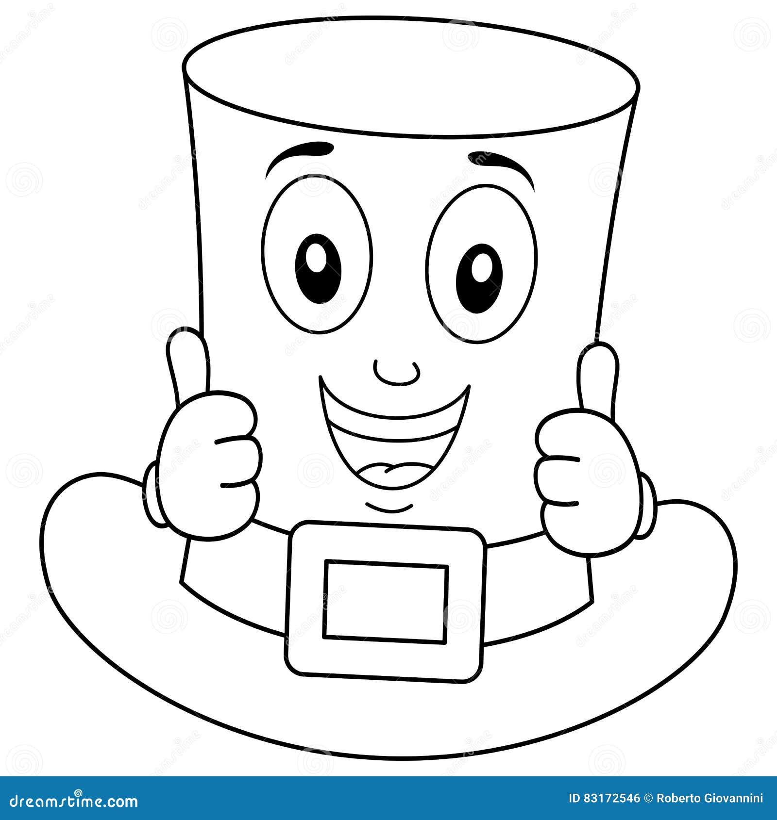 Personaje De Dibujos Animados Del Sombrero Del ` S De St Patrick Del ...