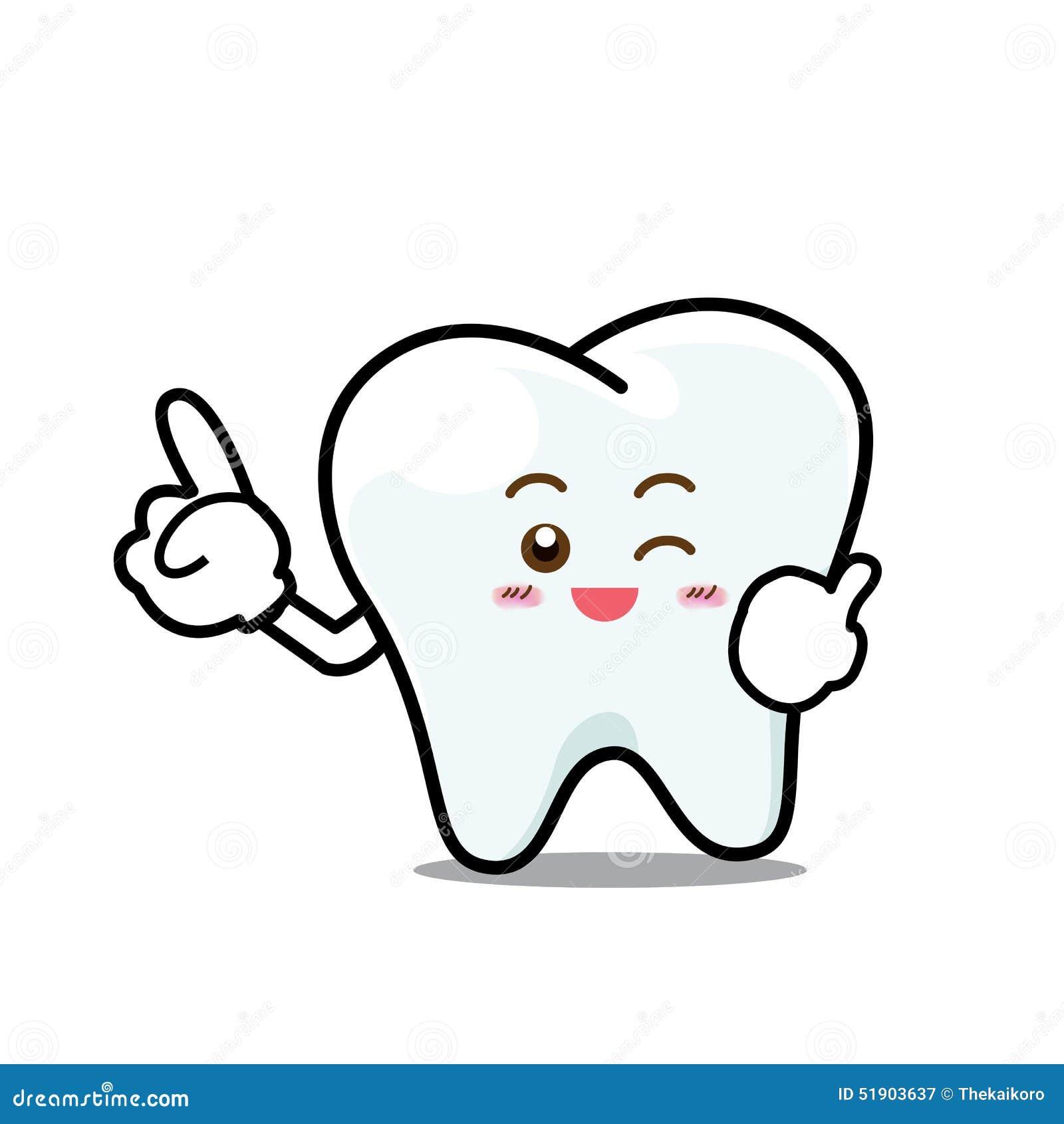 Personaje De Dibujos Animados Dental Feliz De La Mascota Del