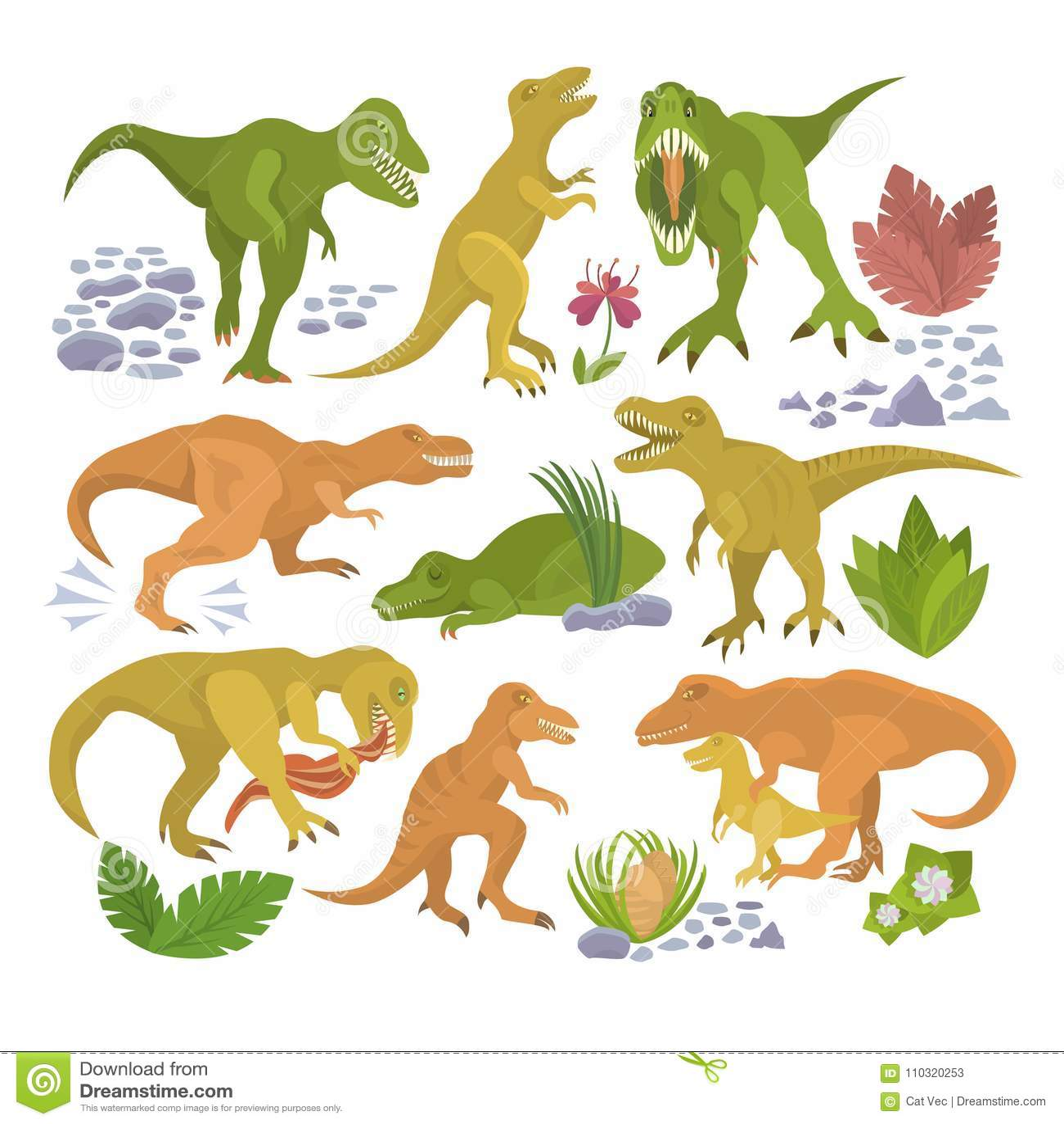 Personaje De Dibujos Animados Dino Del Rex Del Tiranosaurio Del