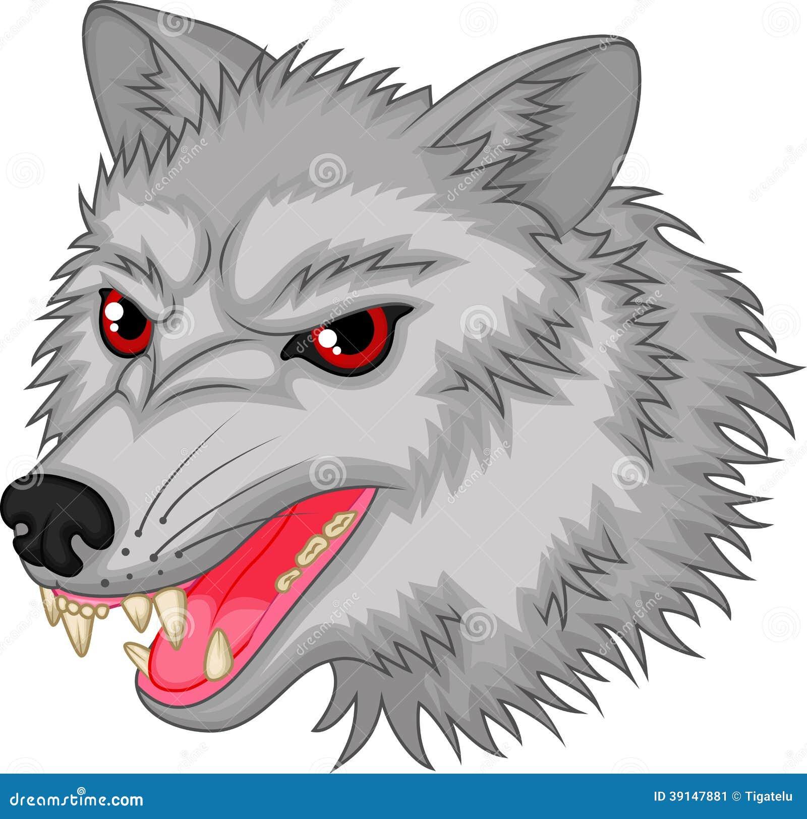 Personaje De Dibujos Animados Enojado Del Lobo Ilustración Del