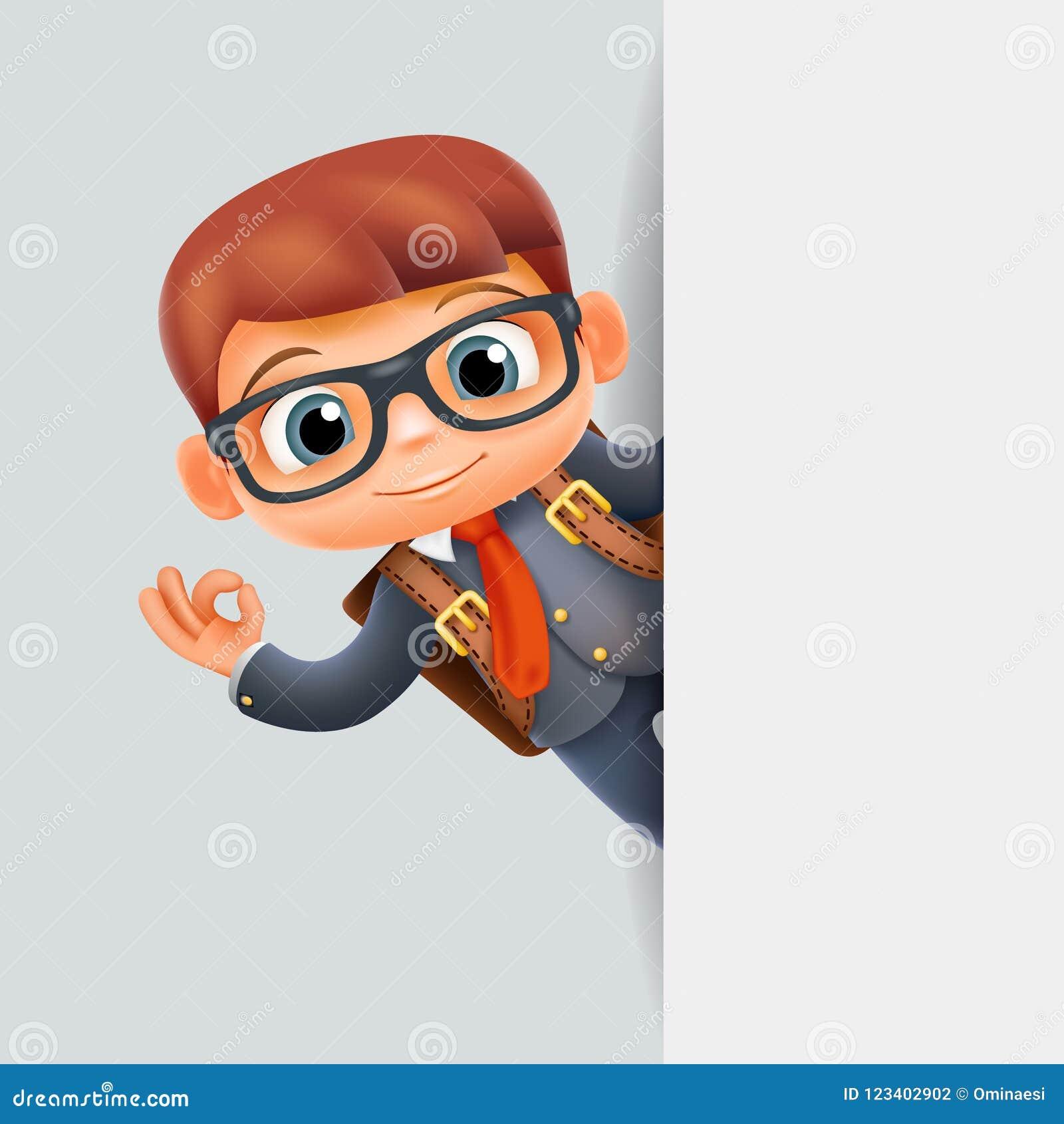 Personaje De Dibujos Animados Excelente Del Escondrijo 3d Del Alumno