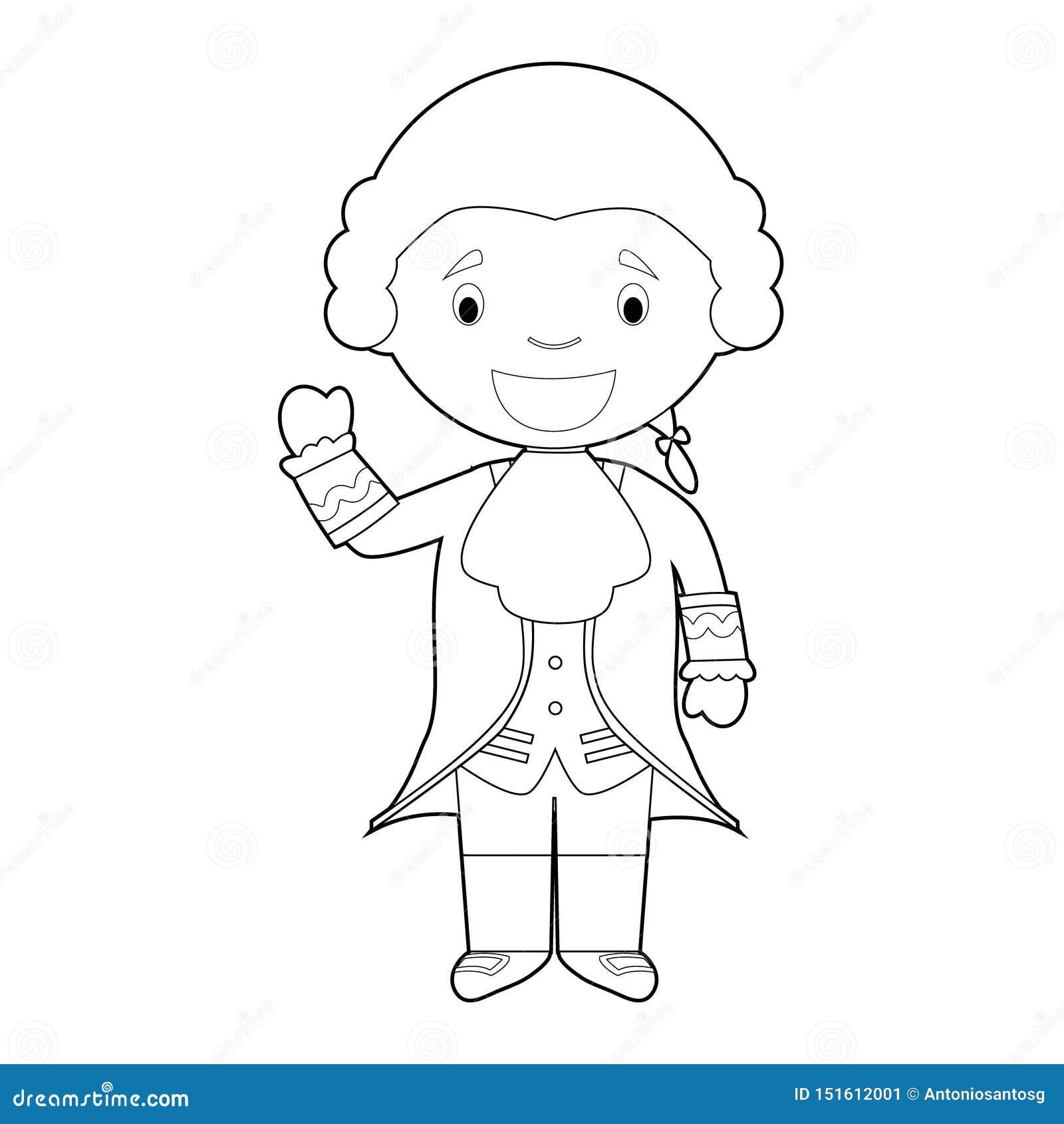 Personaje De Dibujos Animados Facil De Wolfgang Amadeus Mozart Que