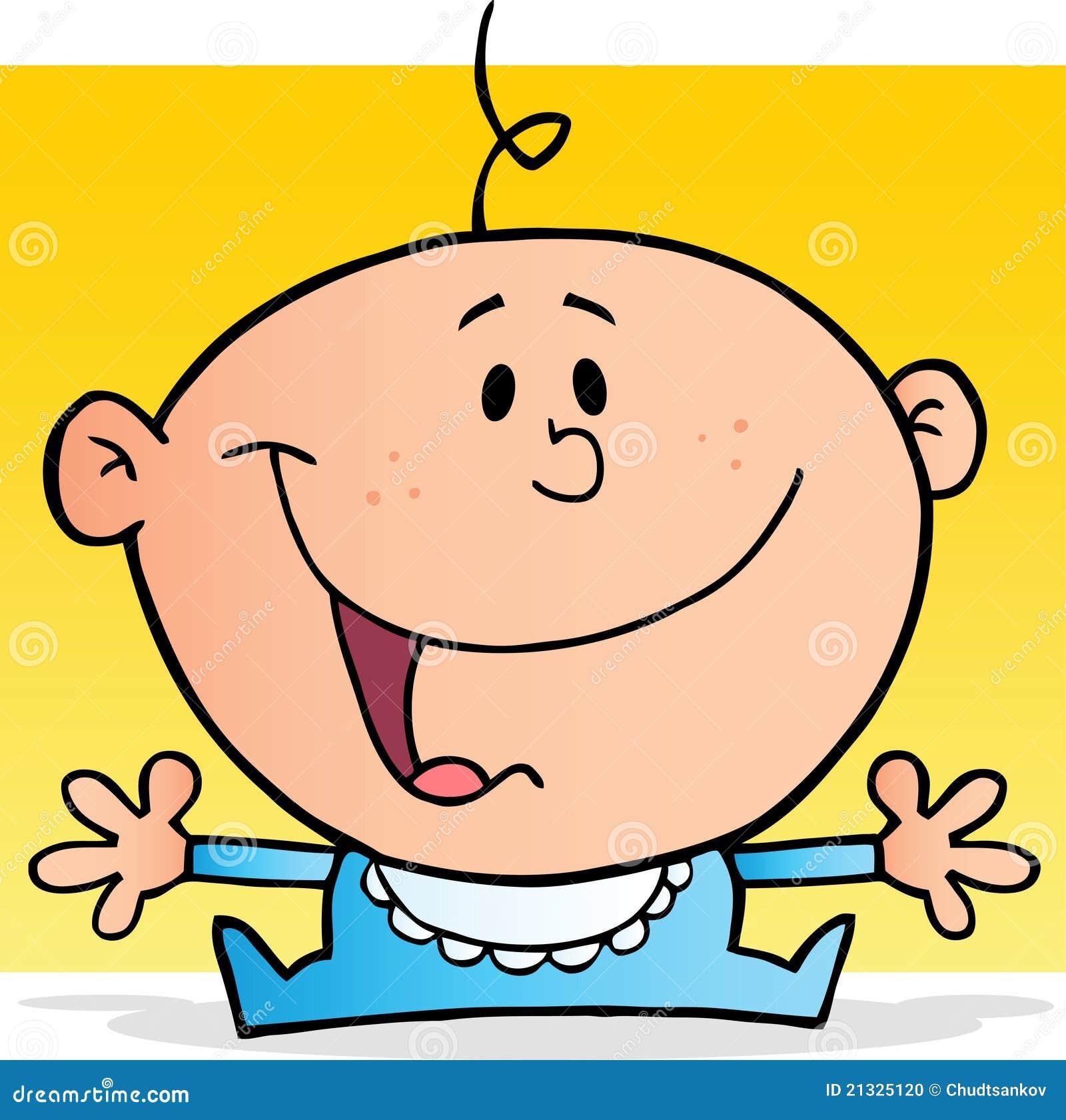 Personaje de dibujos animados feliz del bebé ilustración