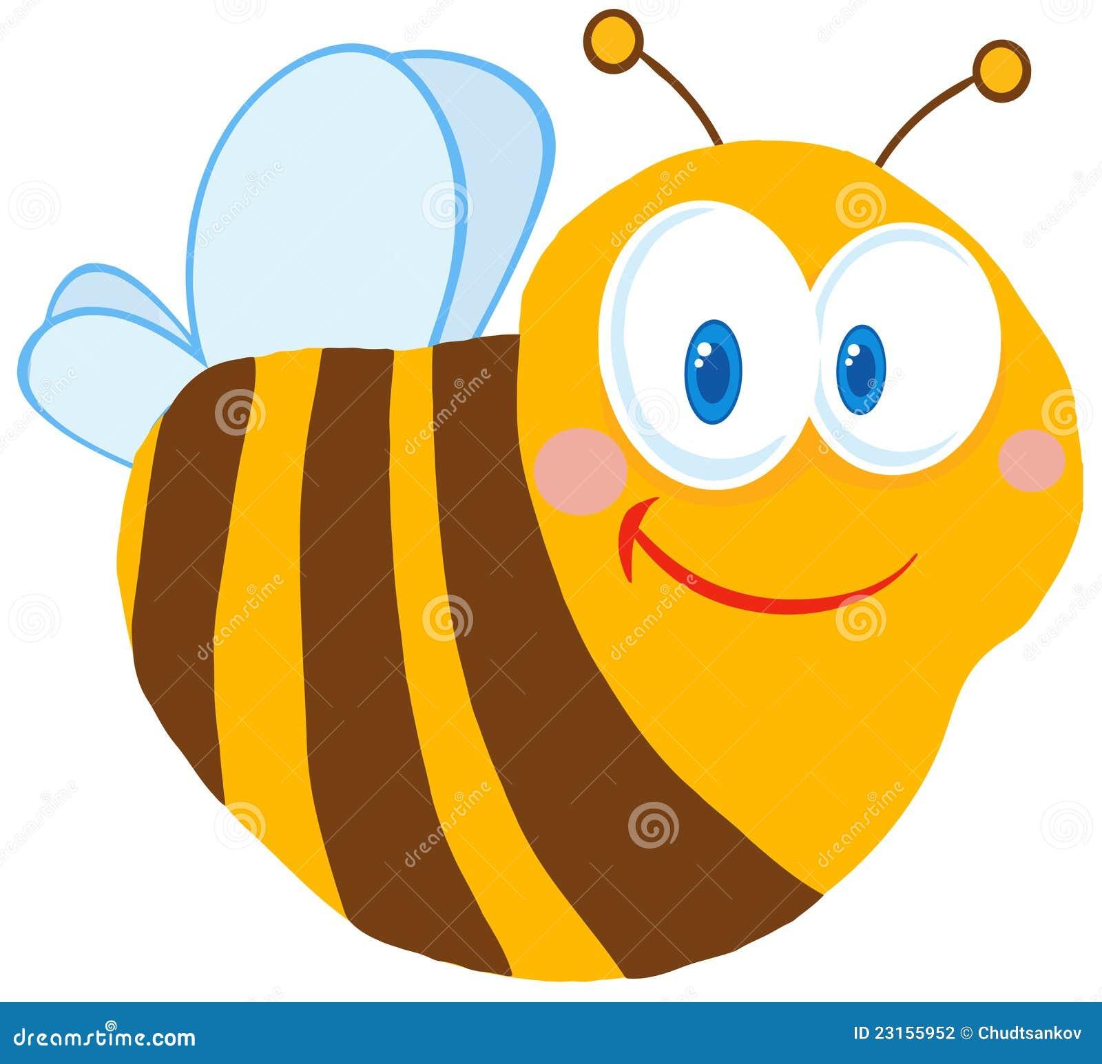 personaje de dibujos animados lindo de la abeja