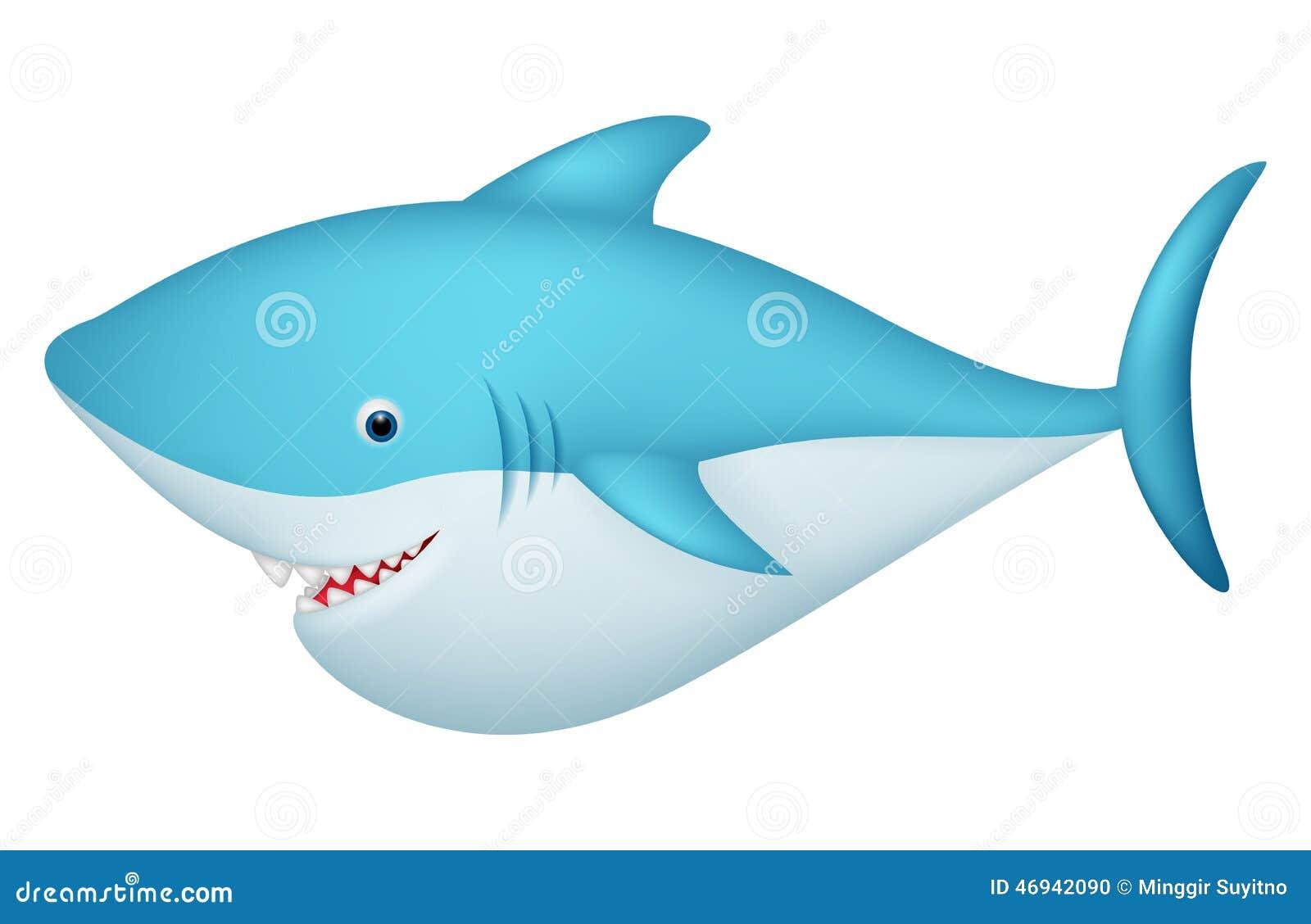 Personaje De Dibujos Animados Lindo Del Tiburón