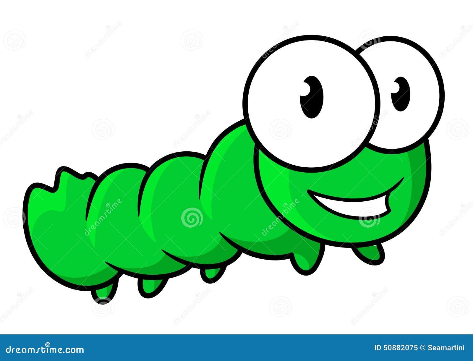 Dibujos Animados De Color Verde: Personaje De Dibujos Animados Verde Lindo Del Insecto De