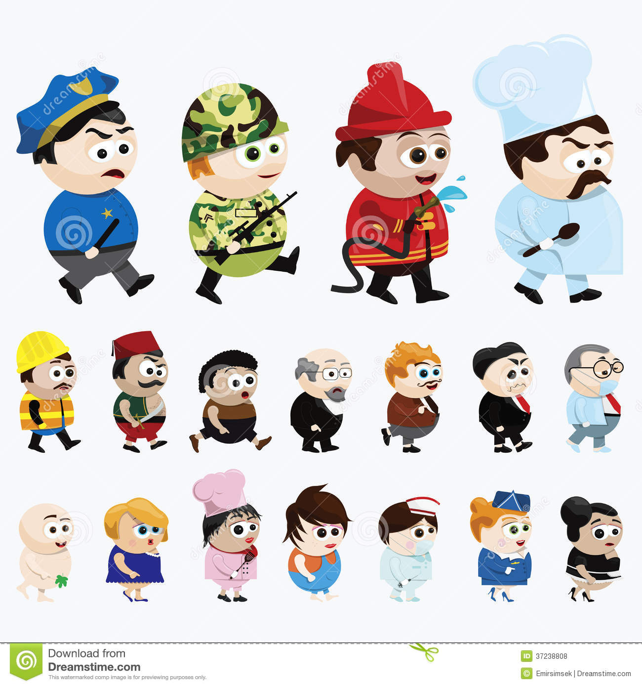 Different Cartoon Characters