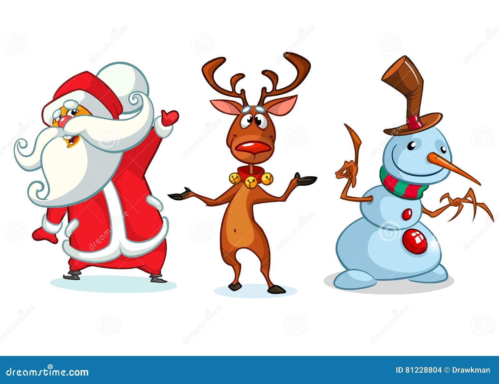 Personajes De Dibujos Animados De La Navidad Fijados