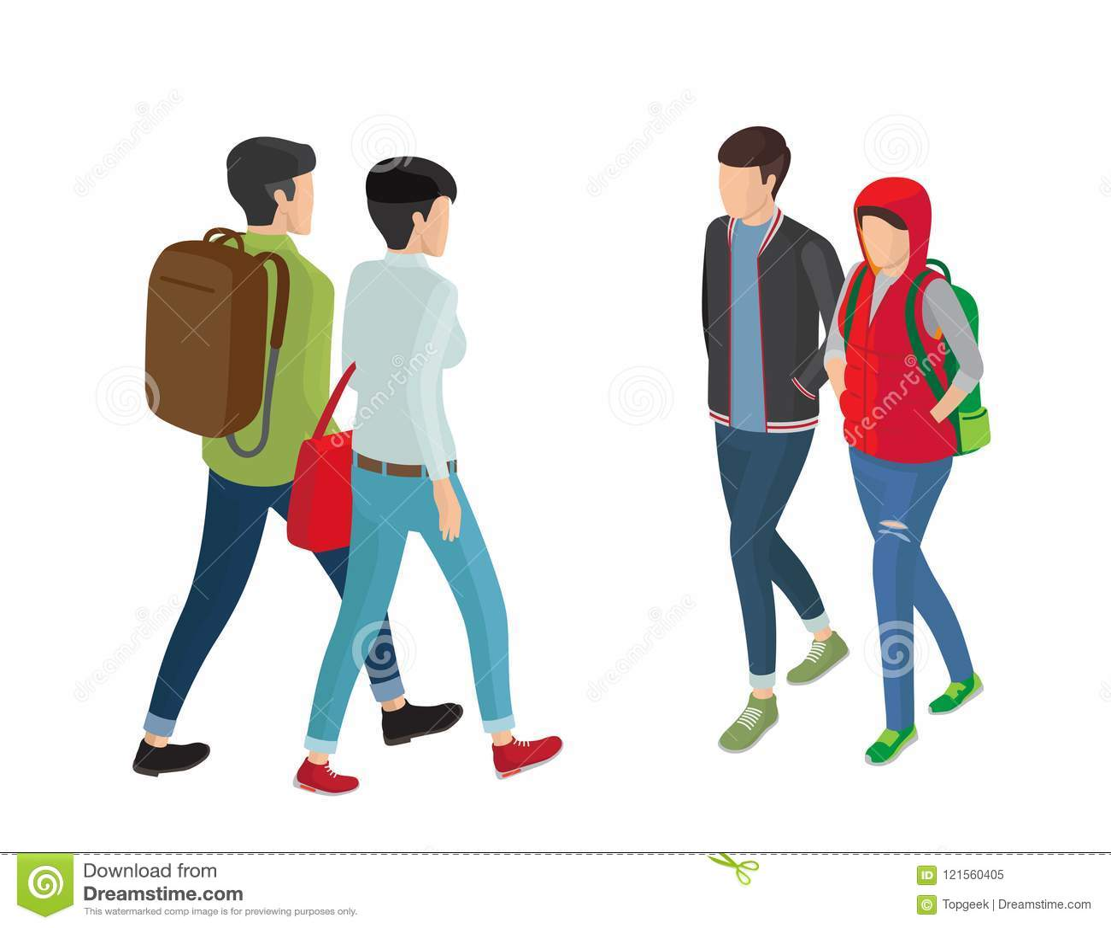 Personajes De Dibujos Animados Del Estudiante O De La Estudiante