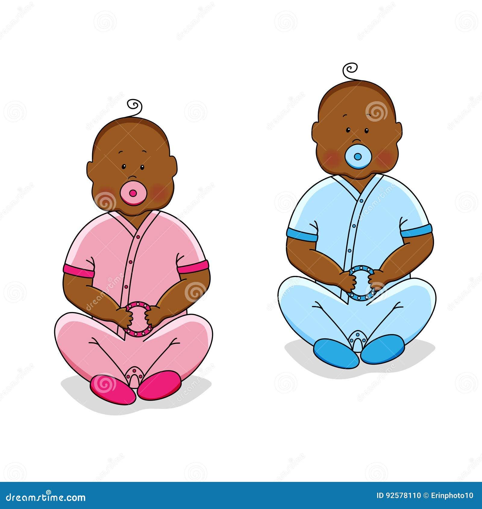 Personajes De Dibujos Animados Lindos De Bebés Recién Nacidos