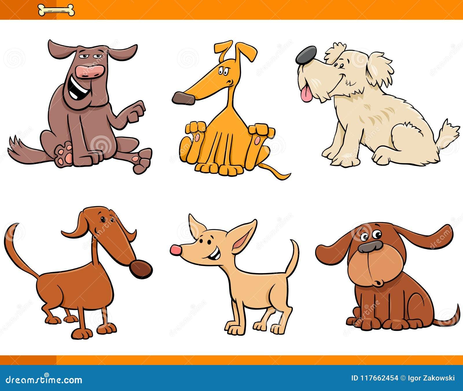 Personajes De Dibujos Animados De Los Perros Y De Los Perritos