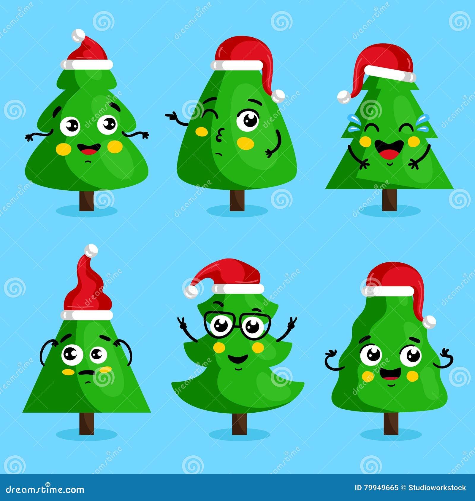Imagenes Animadas Arboles Navidad.Personajes De Dibujos Animados Verdes Del Arbol De Navidad
