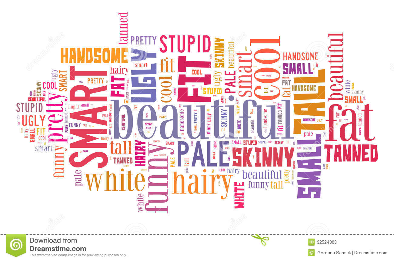 attributes personal word cloud colorful illustration