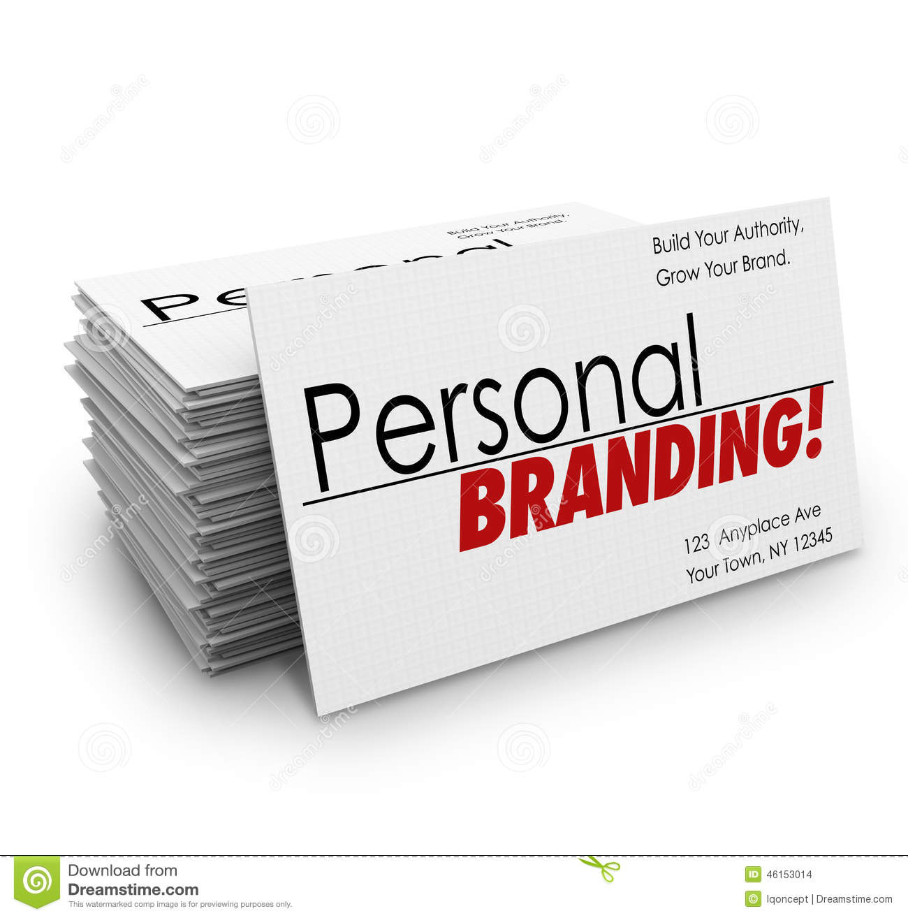 Personal Branding Business Cards Advertise Services Company Stock
