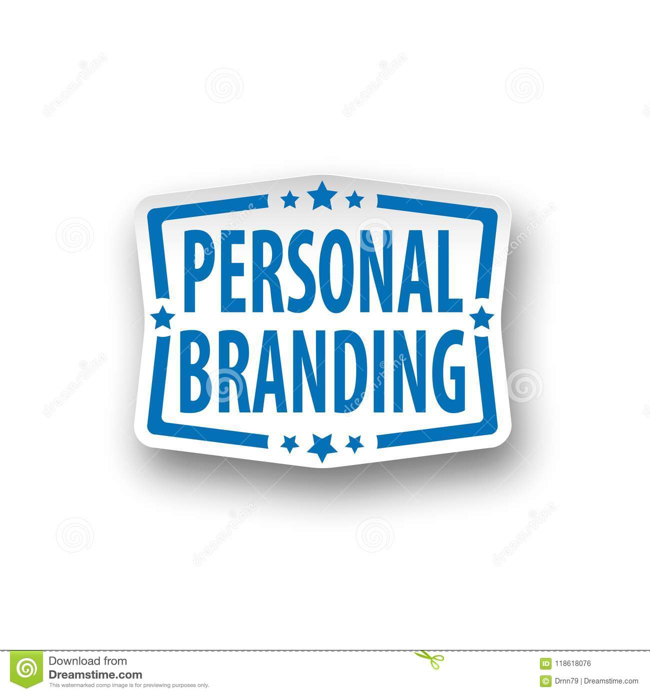 Personal Branding Paper Logo Web Icon Badge Stock
