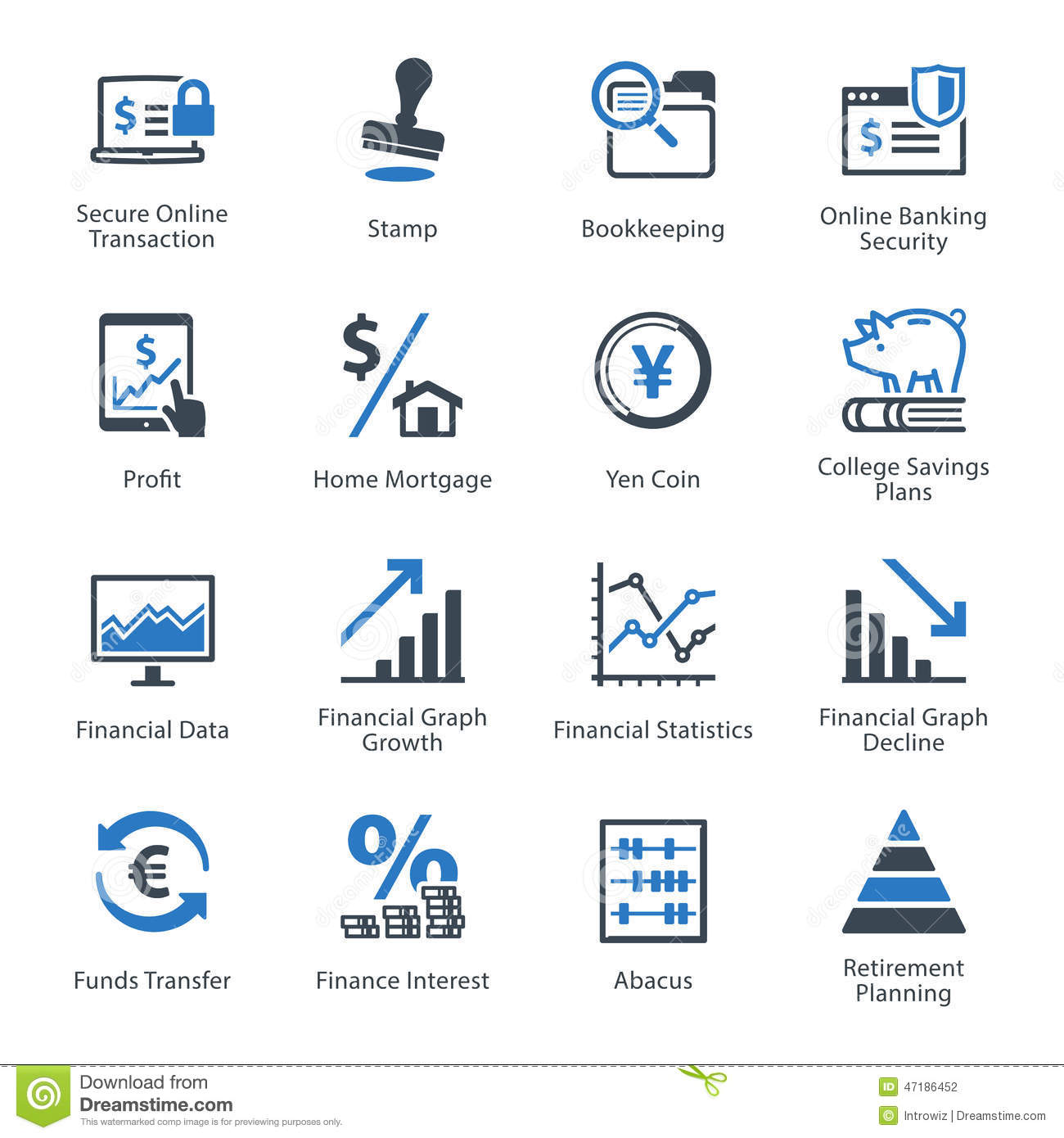 Business Finance: Personal & Business Finance Icons Set 3