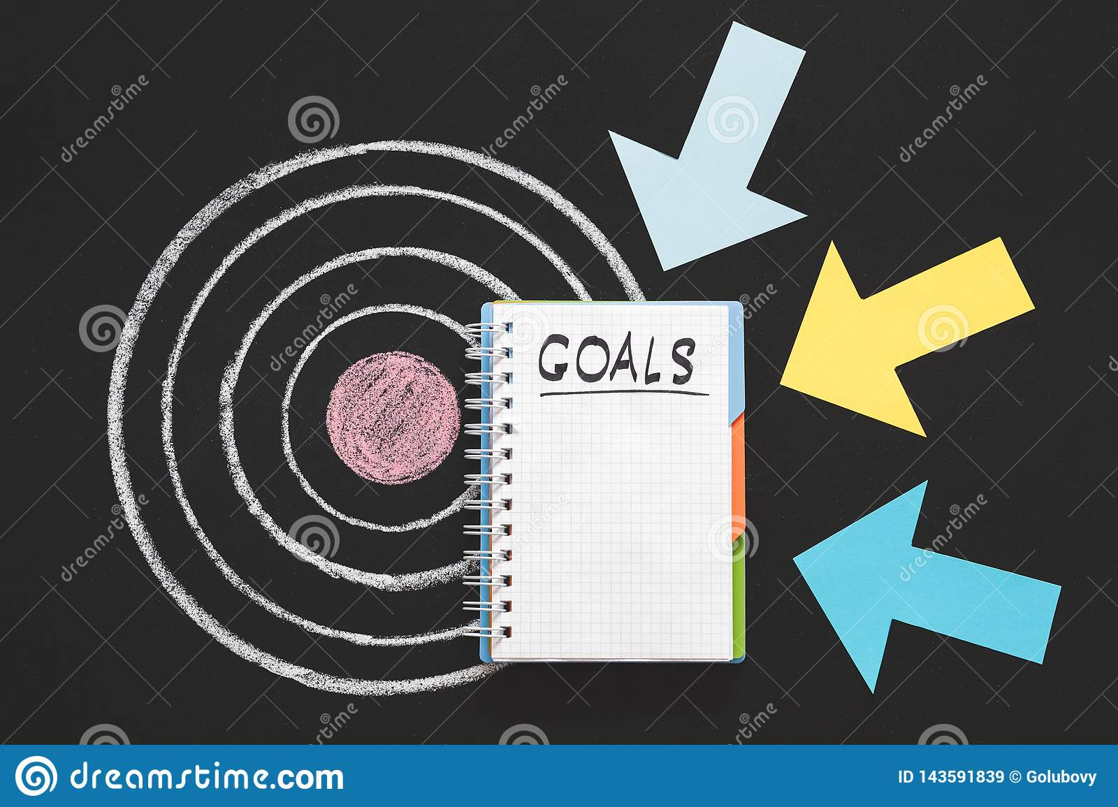 personal business goals aim aspiration inspiration stock image