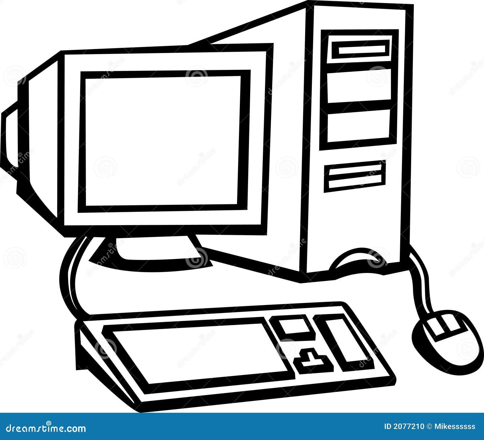 Arbeitsplatz computer clipart  Büroarbeitsplatz Clipart | afdecker.com