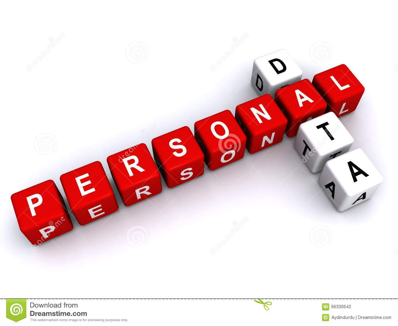 personal data sign background letter blocks words puzzle illustrated preview