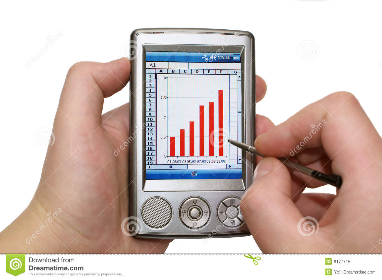 Personal Digital Assistant In Human Hands Royalty Free Stock Photo ...