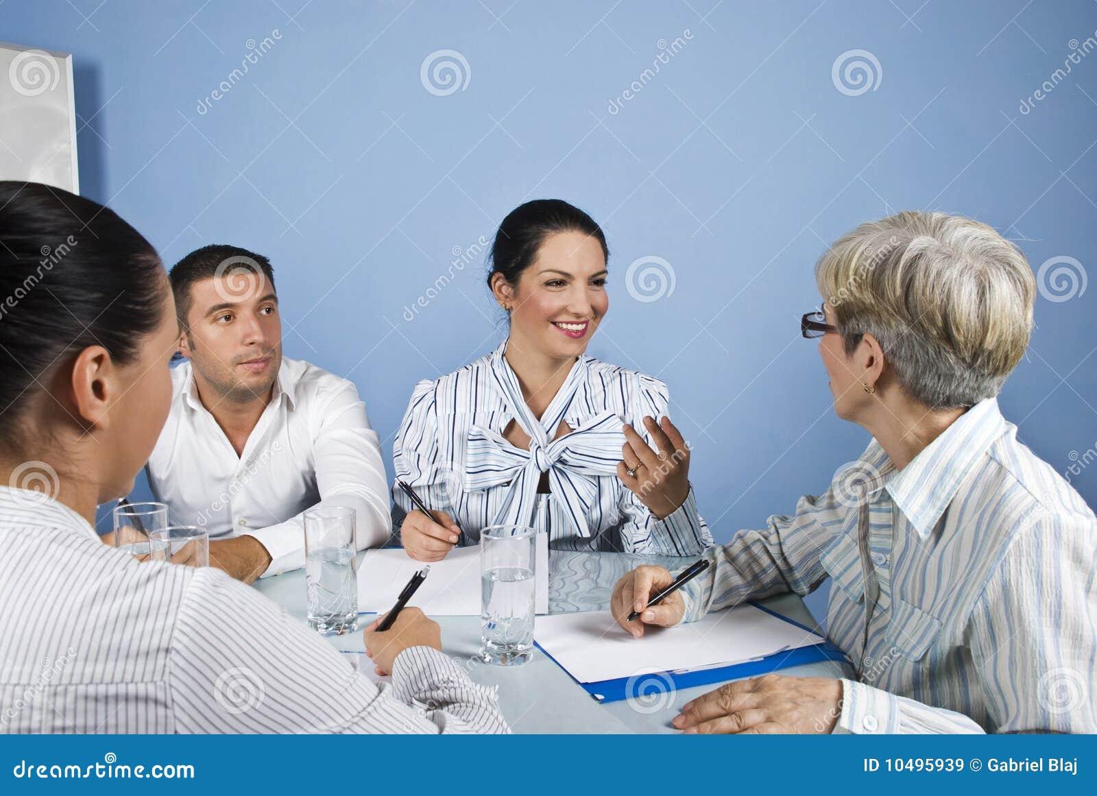Personal för affärsmöte