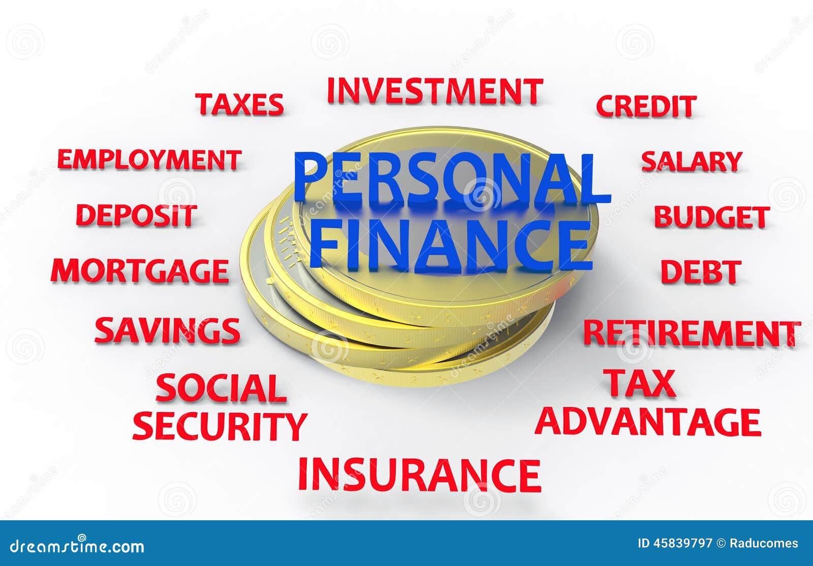 personal finance render stock illustration