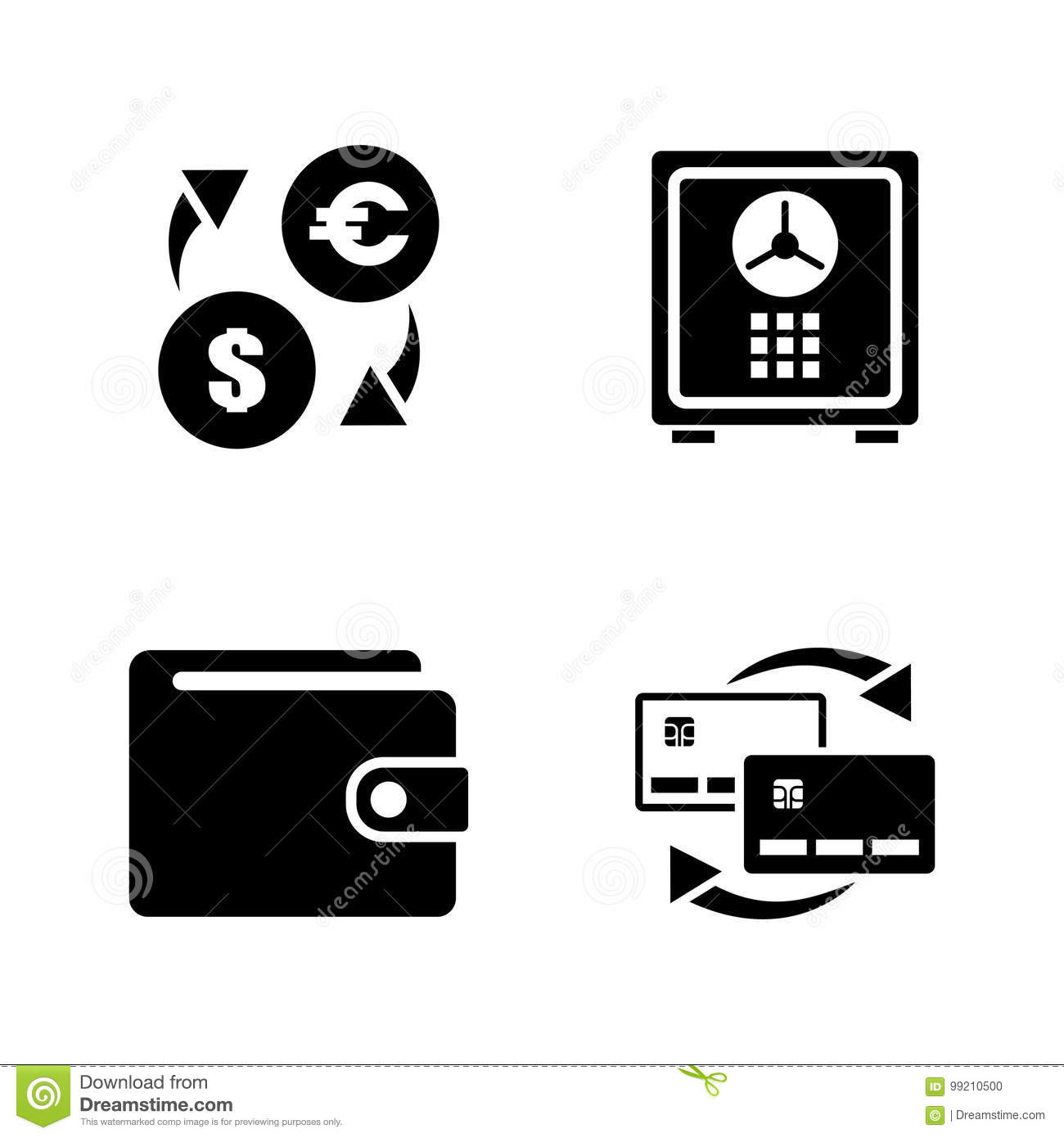 personal finance simple related vector icons stock vector