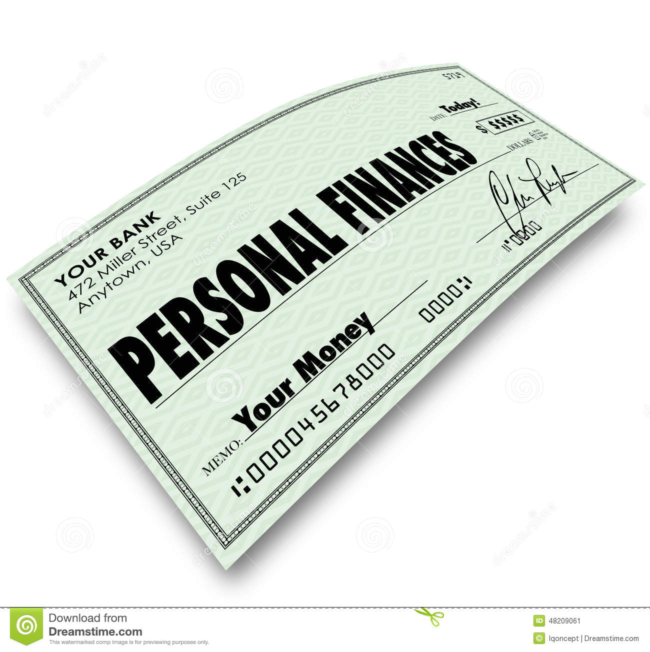 personal finances check paying bills expenses bookkeeping accoun
