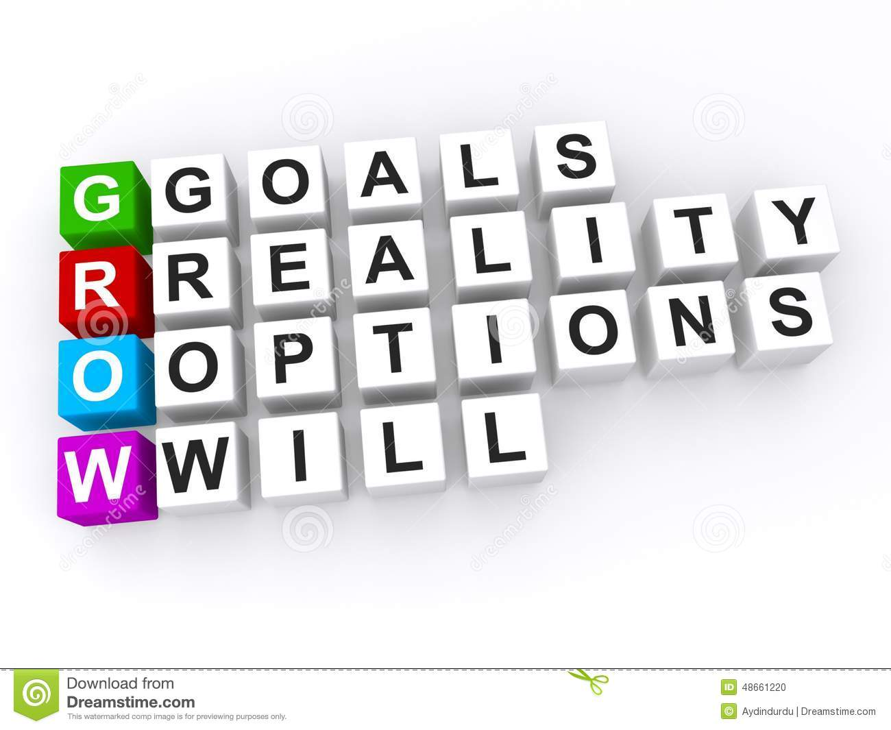 personal goals grow acronym stock illustration image 48661220 personal goals grow acronym