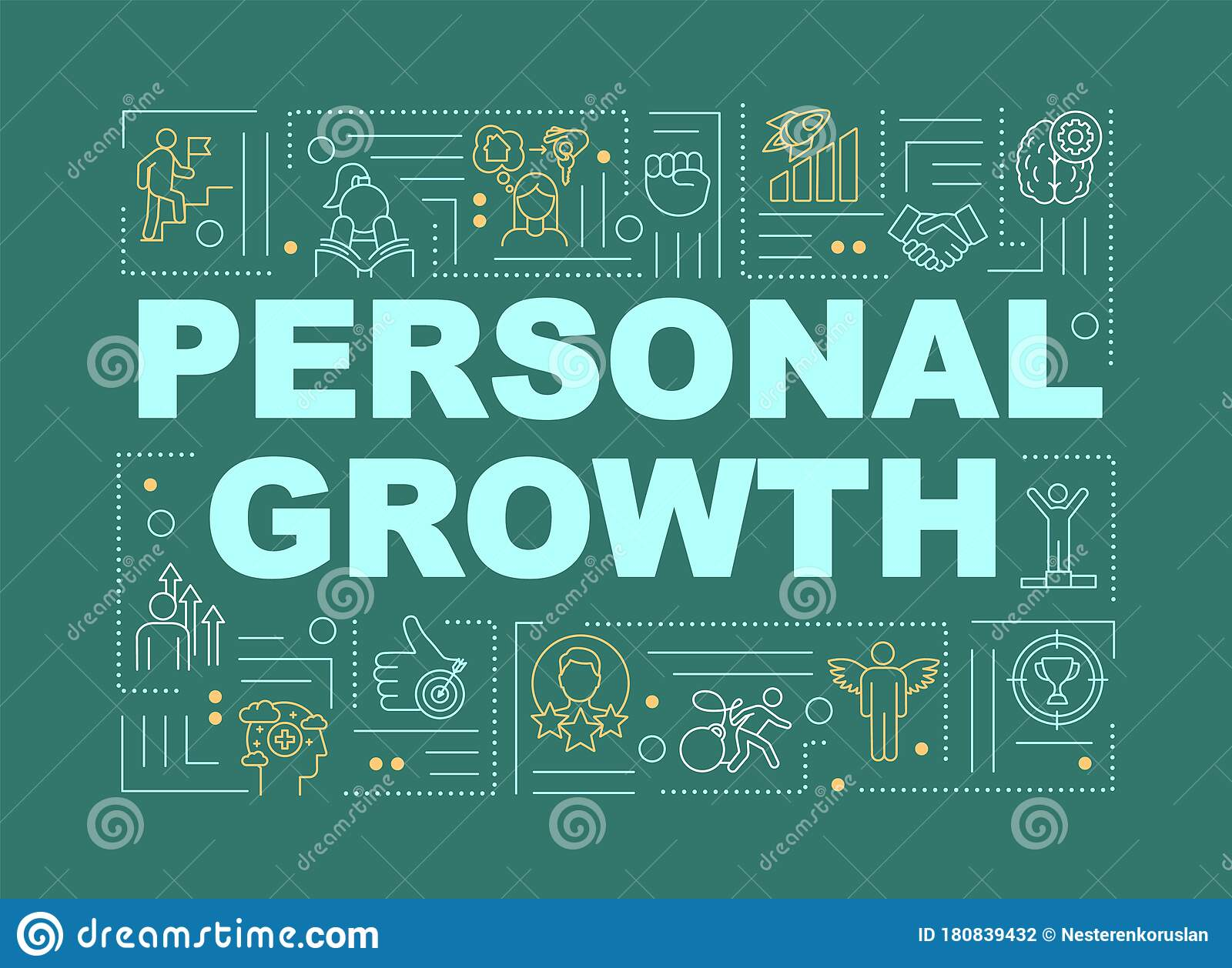 Personal Growth Green Word Concepts Banner Stock Vector Illustration Of Design Graphic 180839432