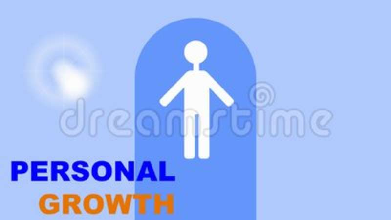 Personal Growth Training Intro White Human Figure In Gate On Light