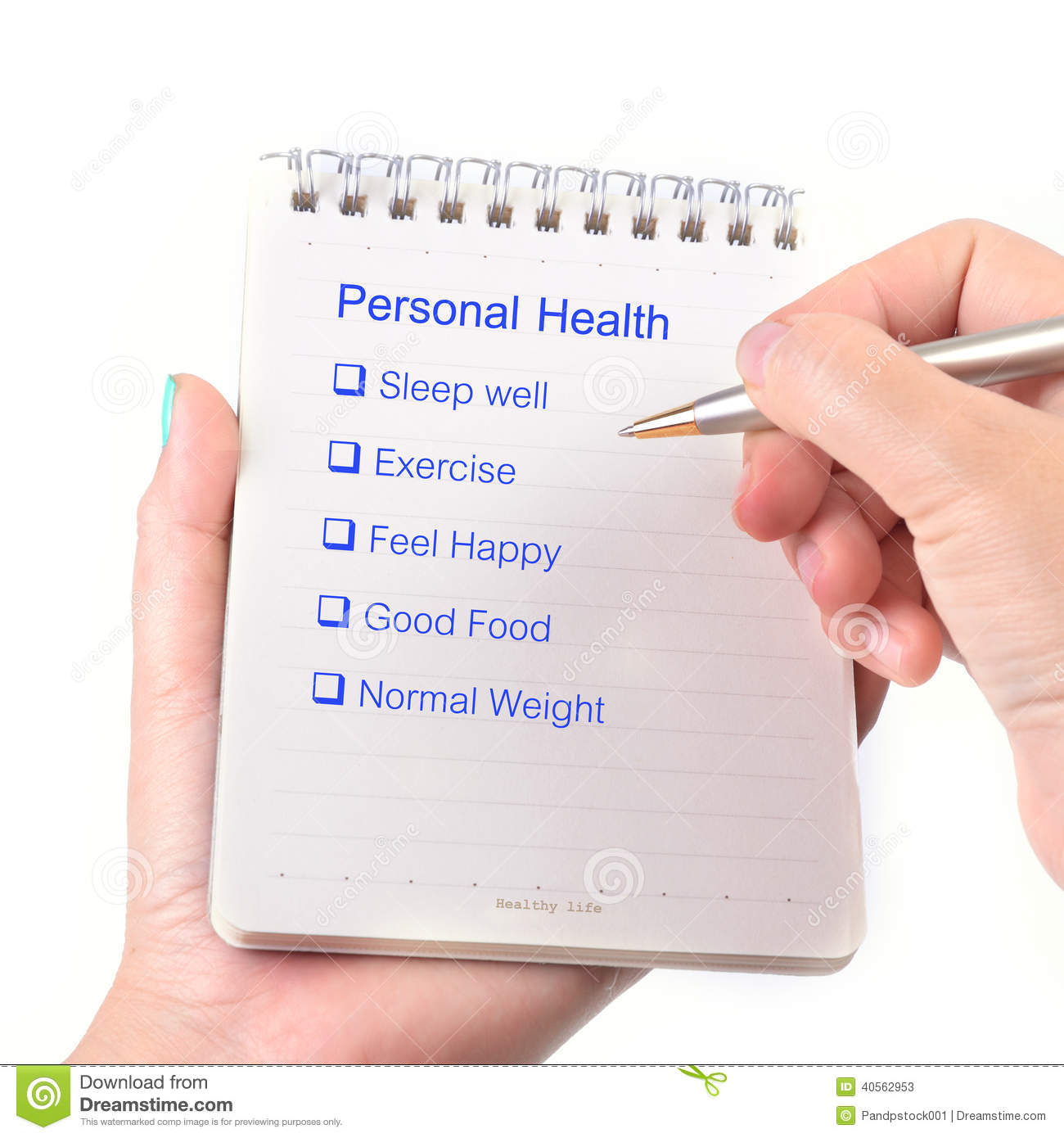 Personal Health: Personal Health Check Stock Photos