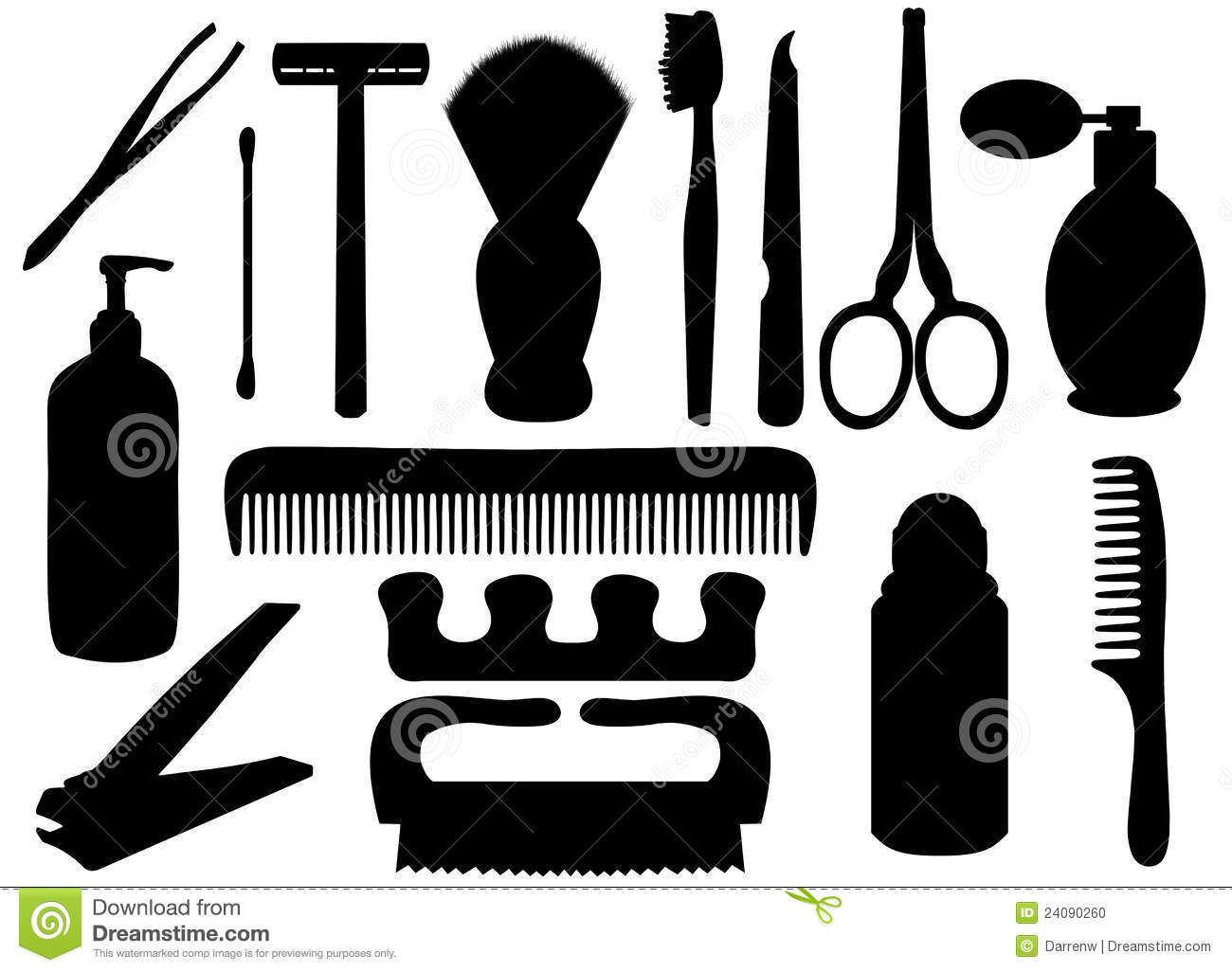 Personal hygiene objects stock illustration. Image of ...